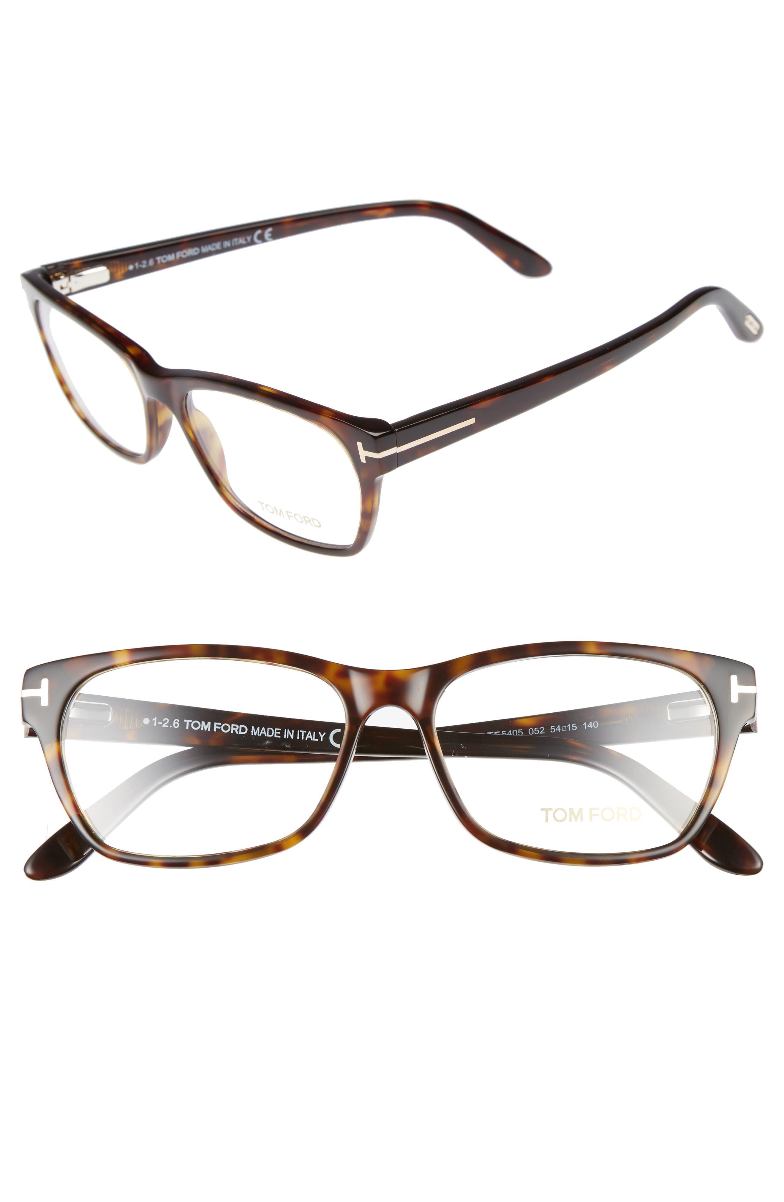 54mm Optical Glasses,                         Main,                         color, Dark Havana
