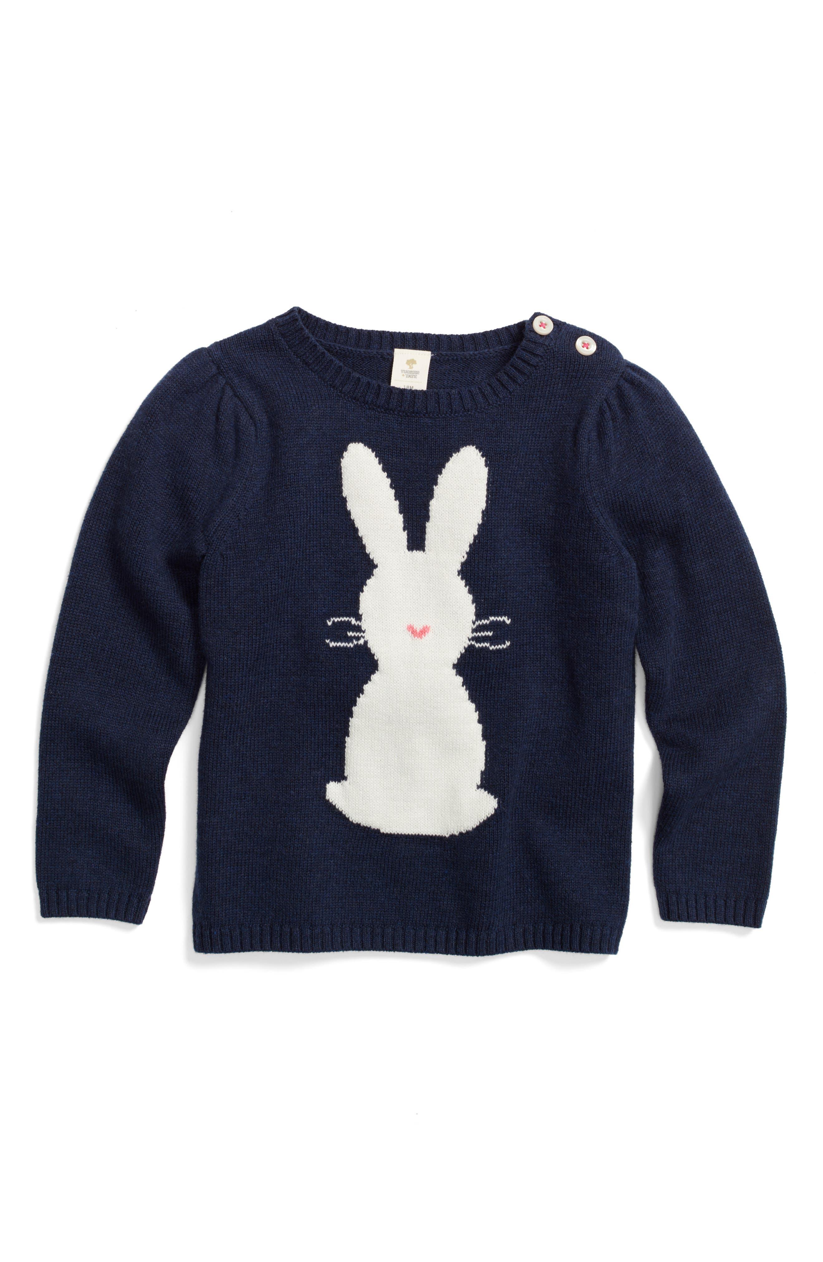 Tucker + Tate Bunny Sweater (Baby Girls)