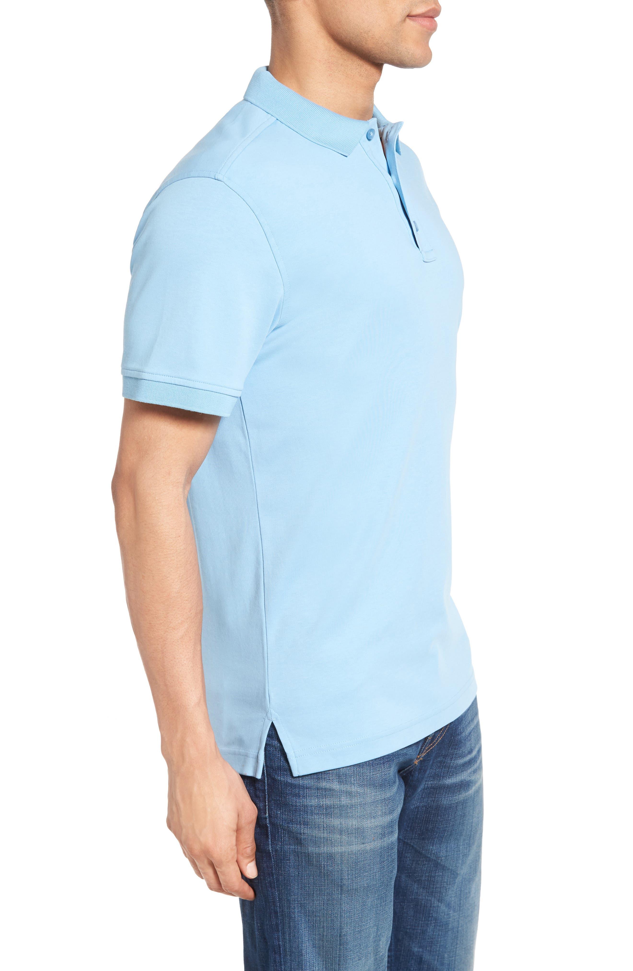 Alternate Image 3  - Nordstrom Men's Shop Slim Fit Interlock Knit Polo