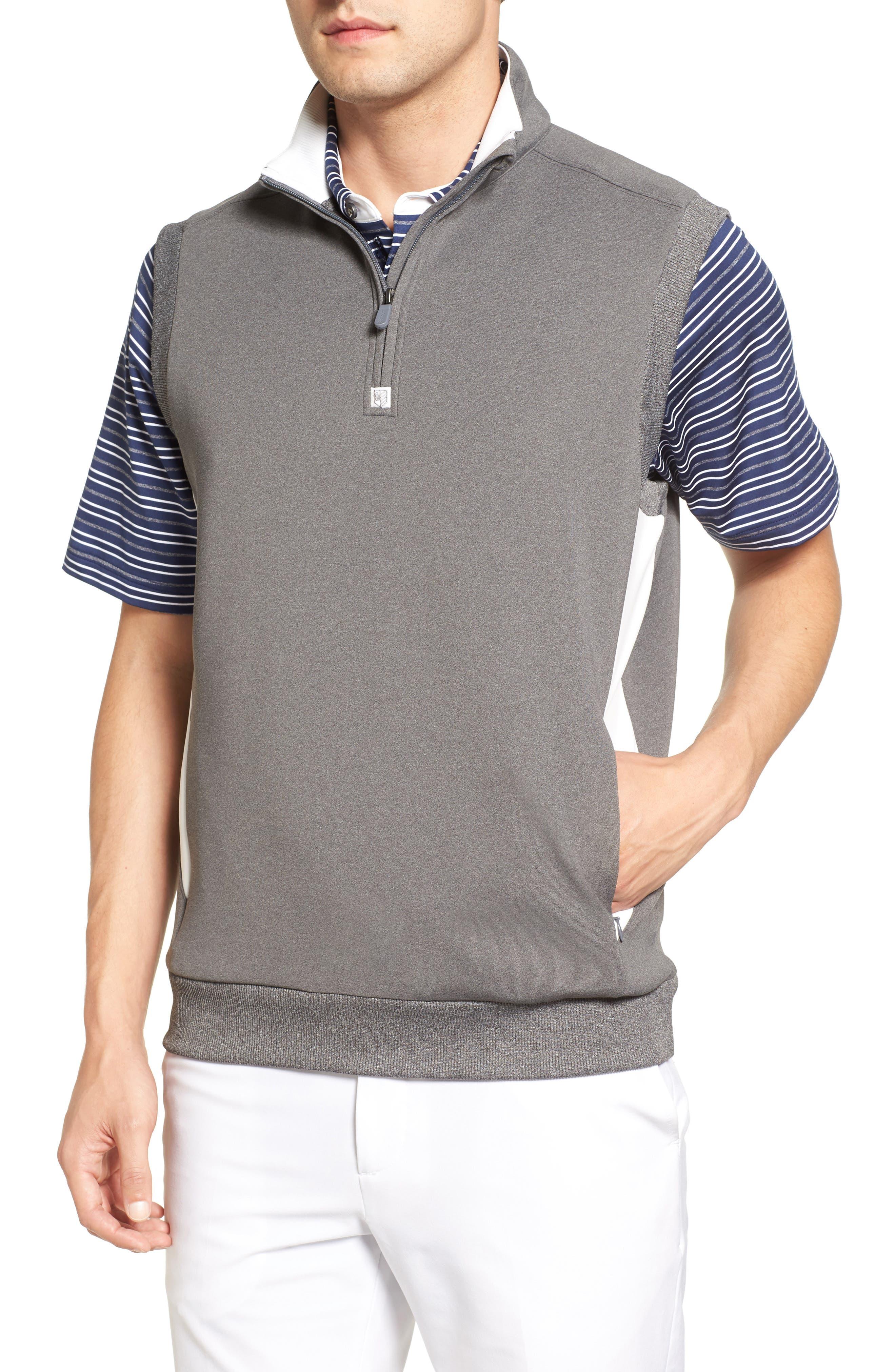 Main Image - Bobby Jones Rule 18 Tech Quarter Zip Vest