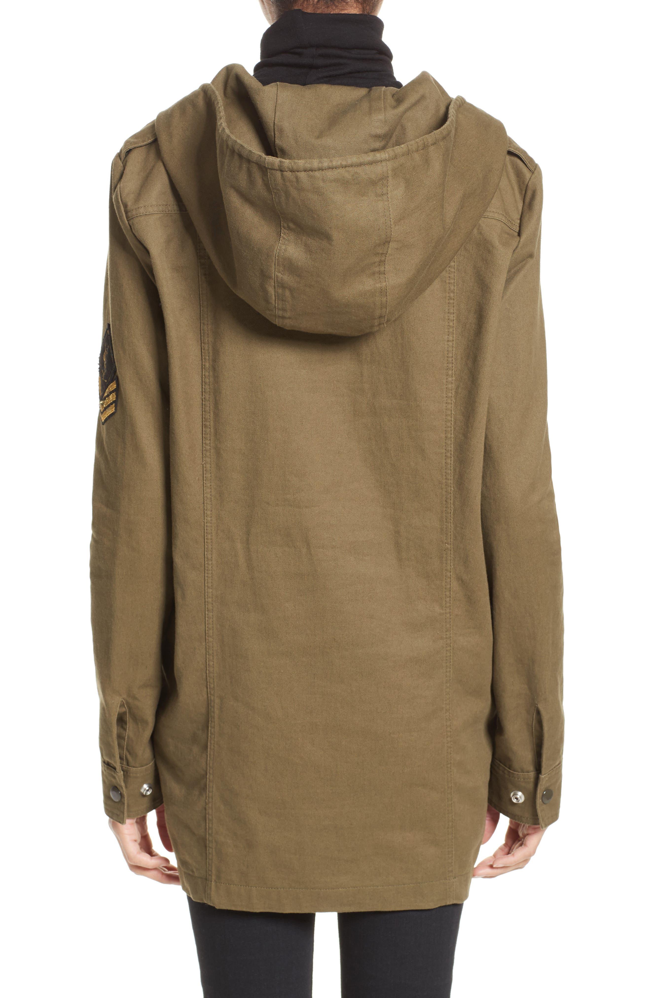 Alternate Image 2  - Saint Laurent Patch Embellished Cotton Blend Gabardine Dress