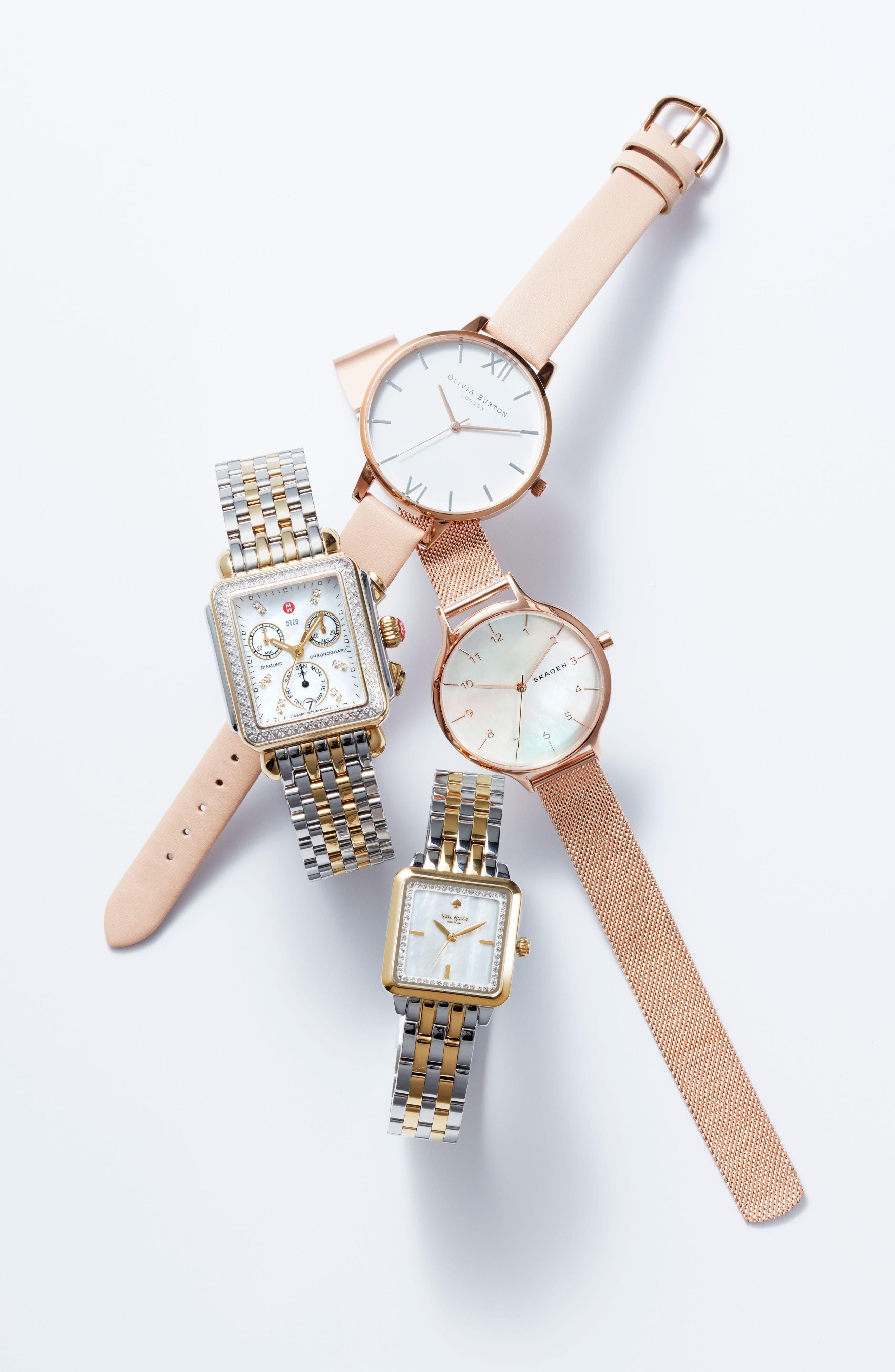 Alternate Image 5  - kate spade new york washington square bracelet watch, 25mm