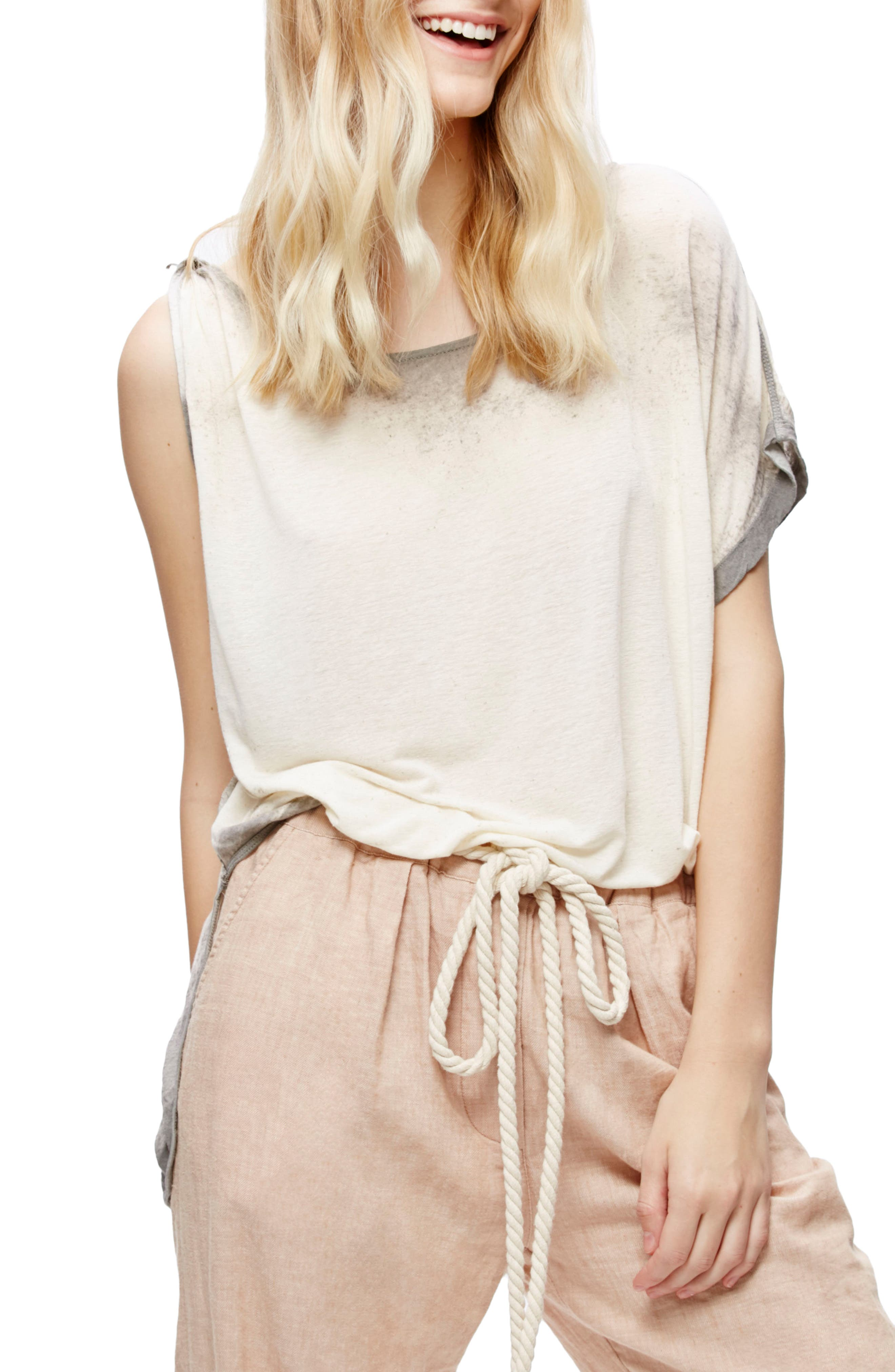 Free People Pluto One-Shoulder Tee