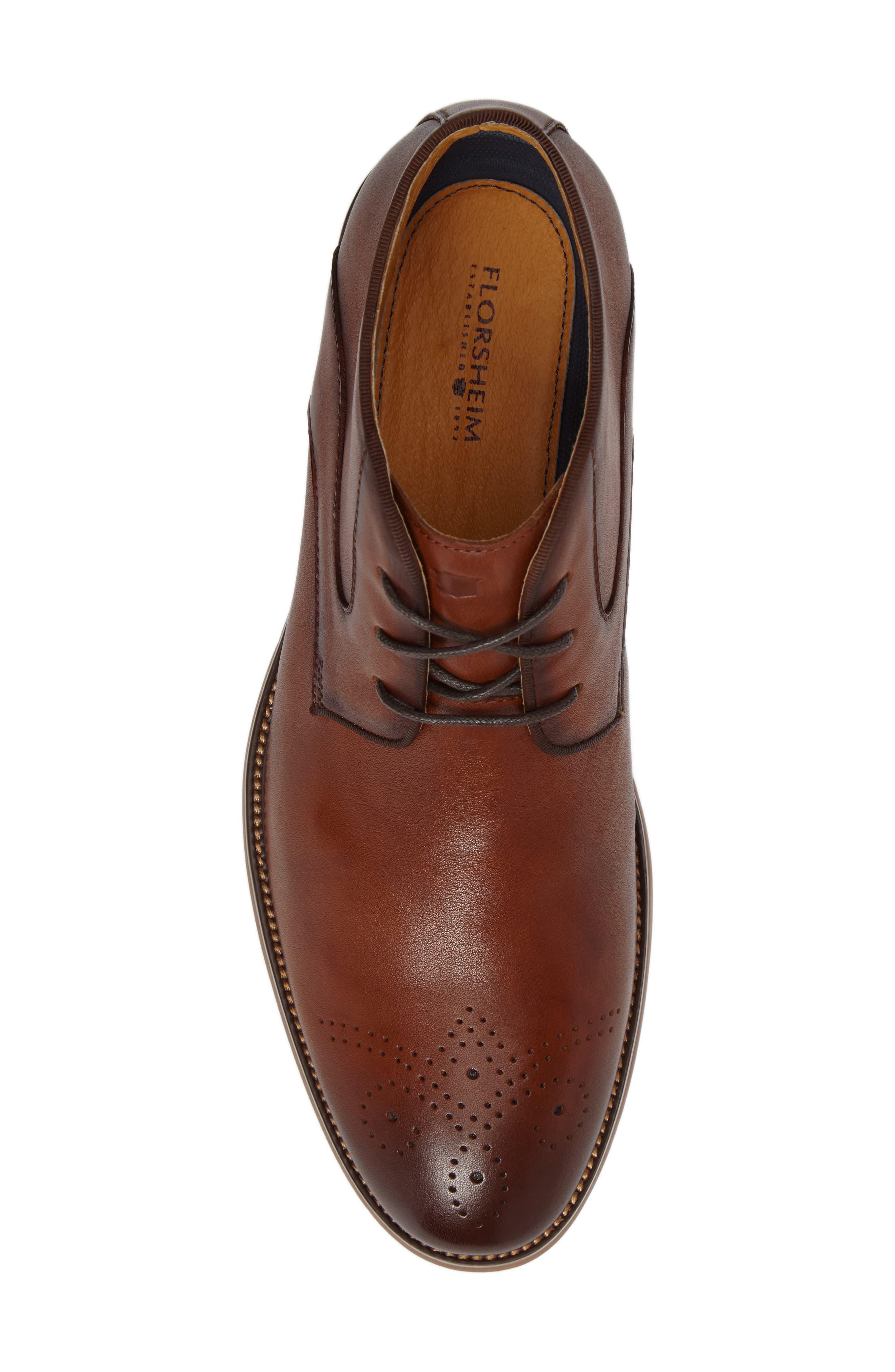Blaze Chukka Boot,                             Alternate thumbnail 5, color,                             Cognac Leather