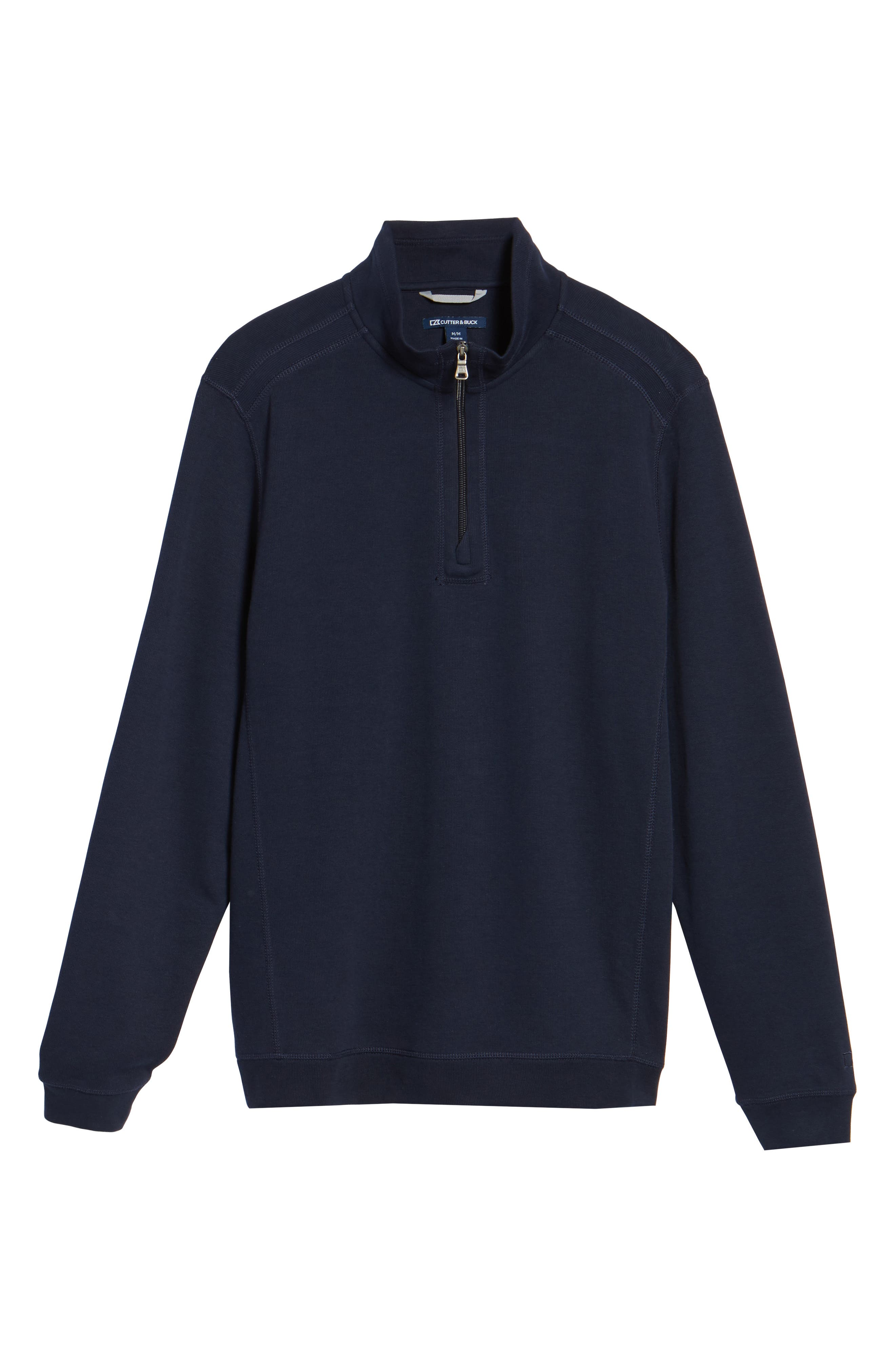 Bayview Quarter Zip Pullover,                             Alternate thumbnail 6, color,                             Liberty Navy