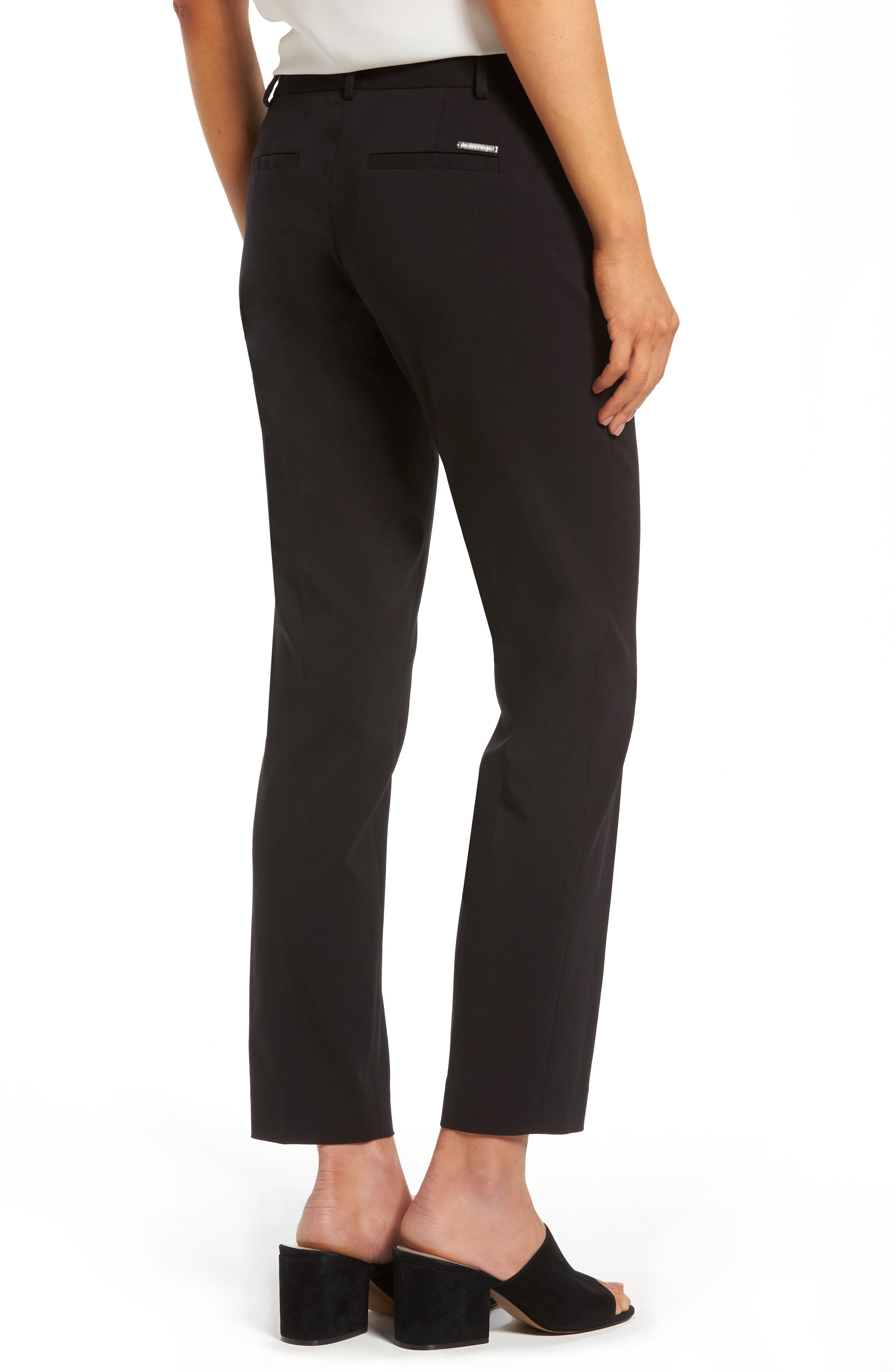 Miranda Slim Ankle Pants,                             Alternate thumbnail 2, color,                             Black