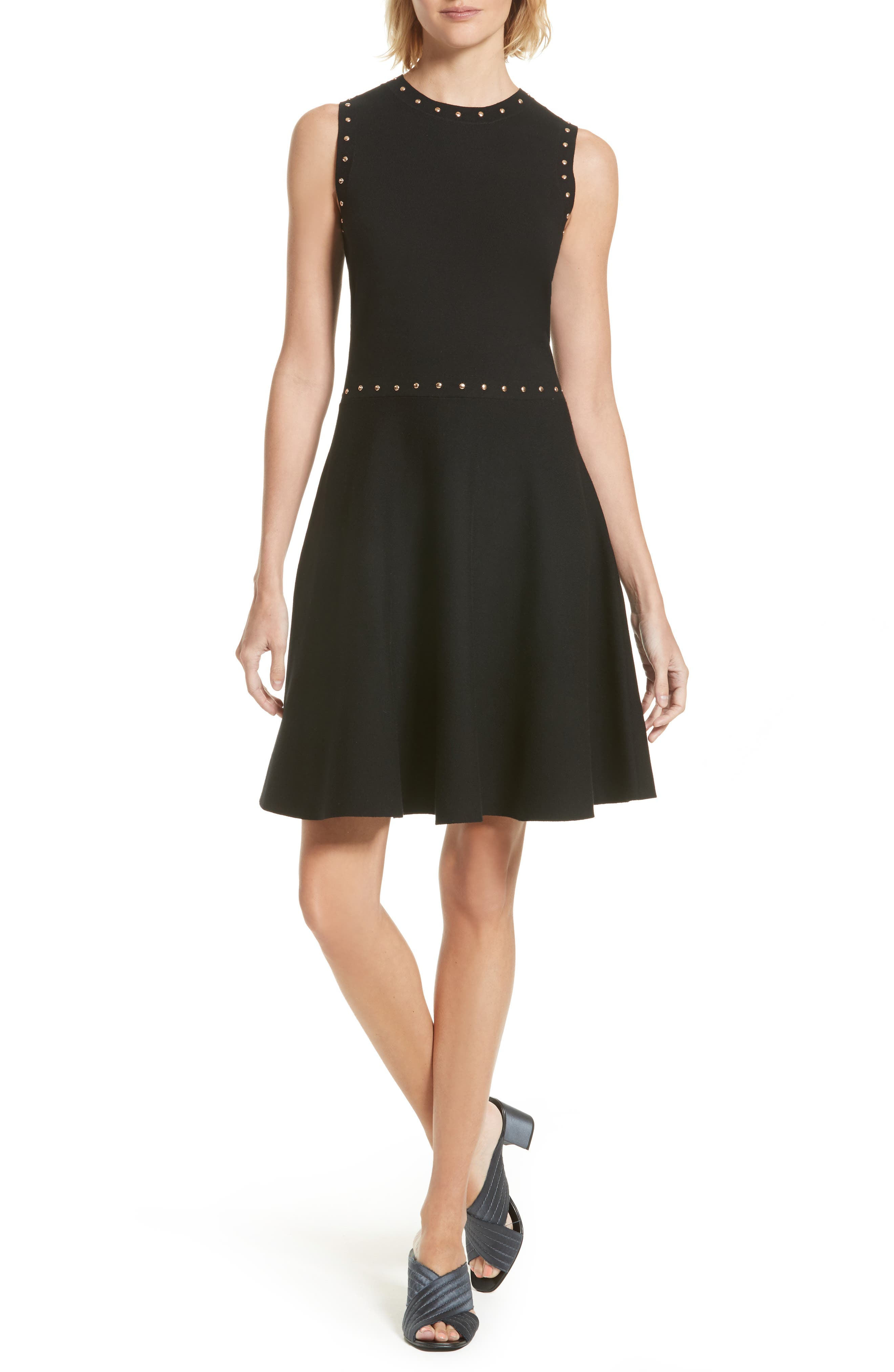 Main Image - kate spade new york studded fit & flare dress