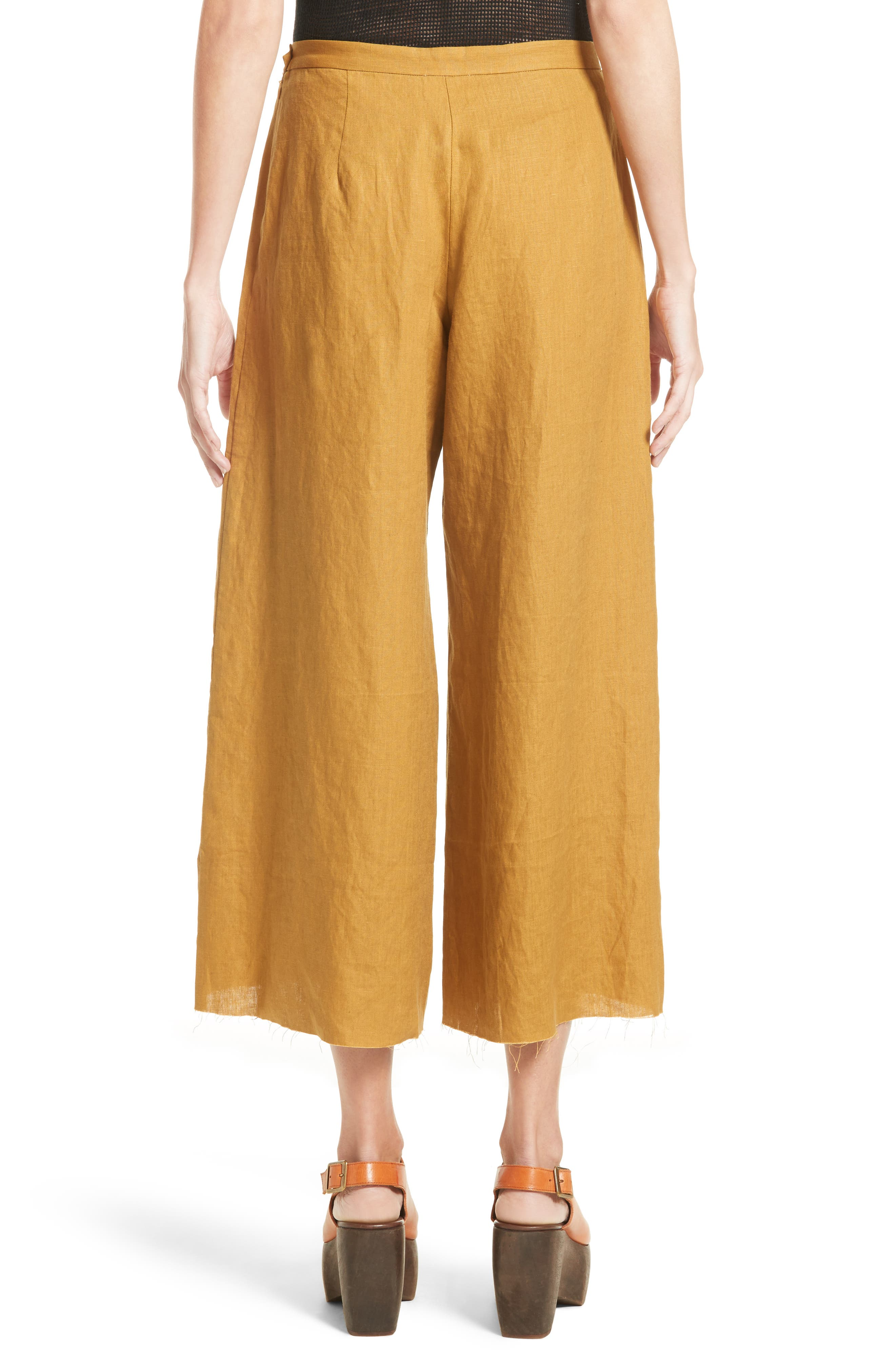 Alder Wide Leg Pants,                             Alternate thumbnail 2, color,                             Maize