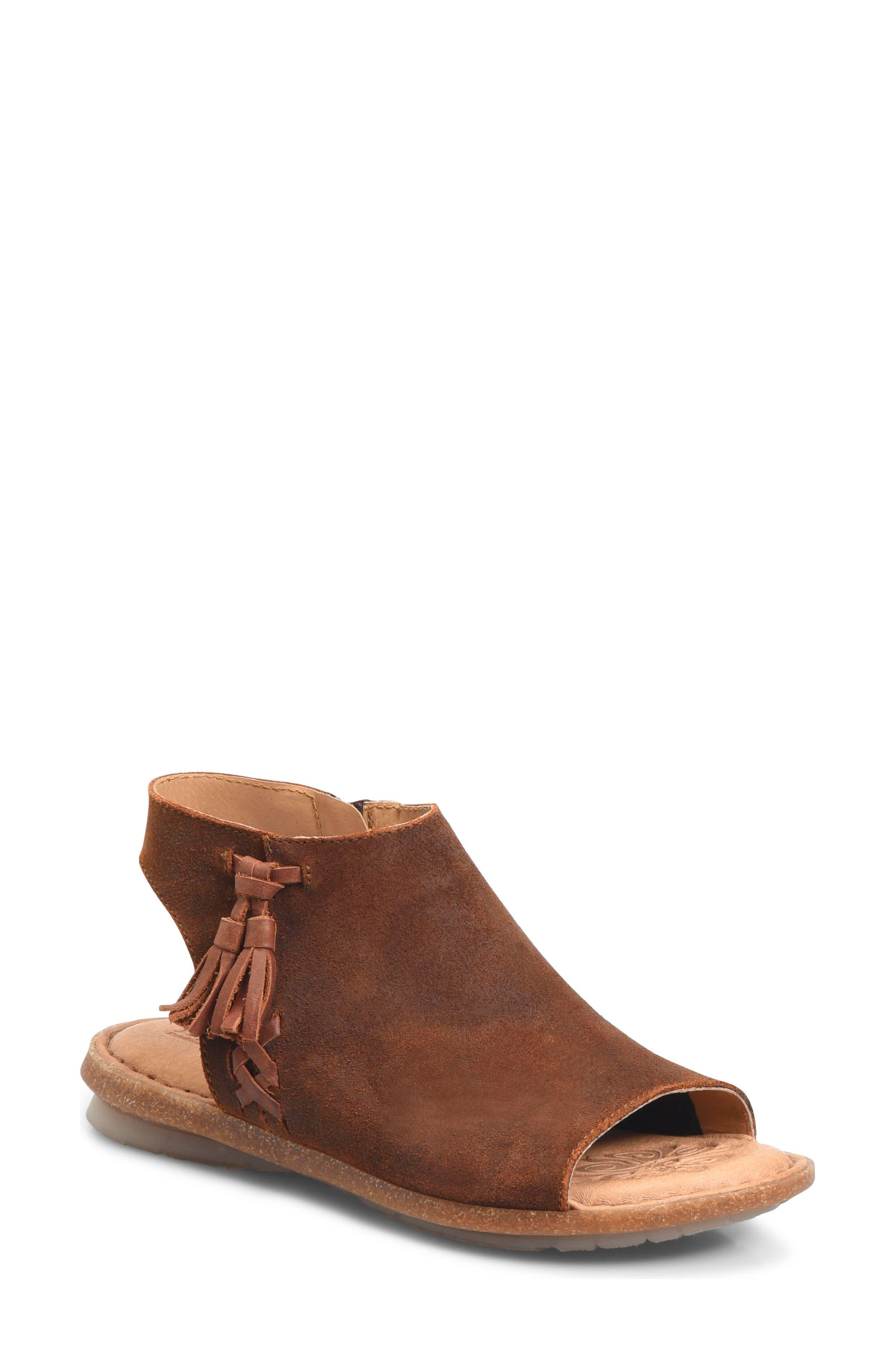 Rikke Sandal,                         Main,                         color, Rust Suede