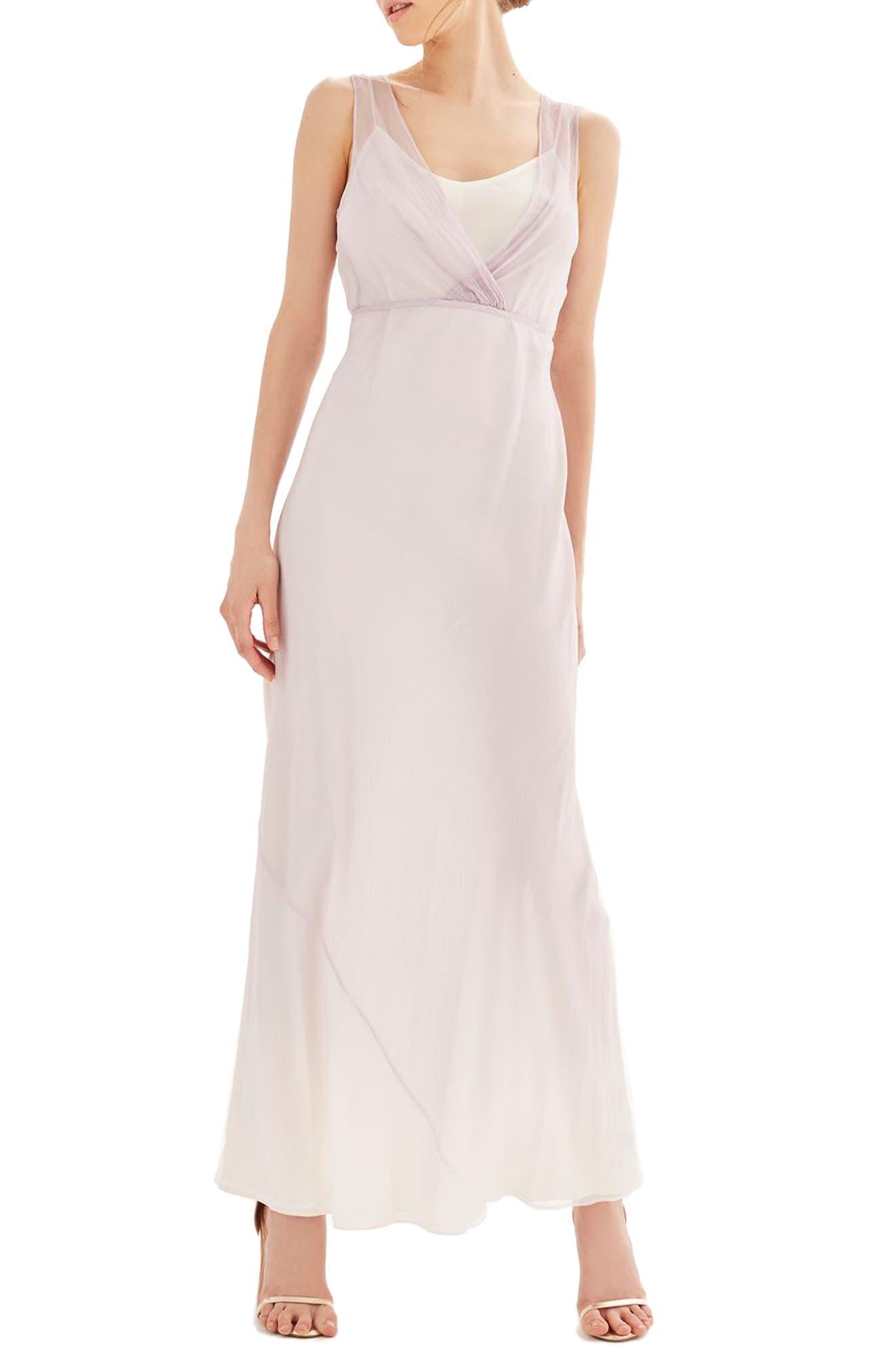 Alternate Image 1 Selected - Topshop Bride Column Gown