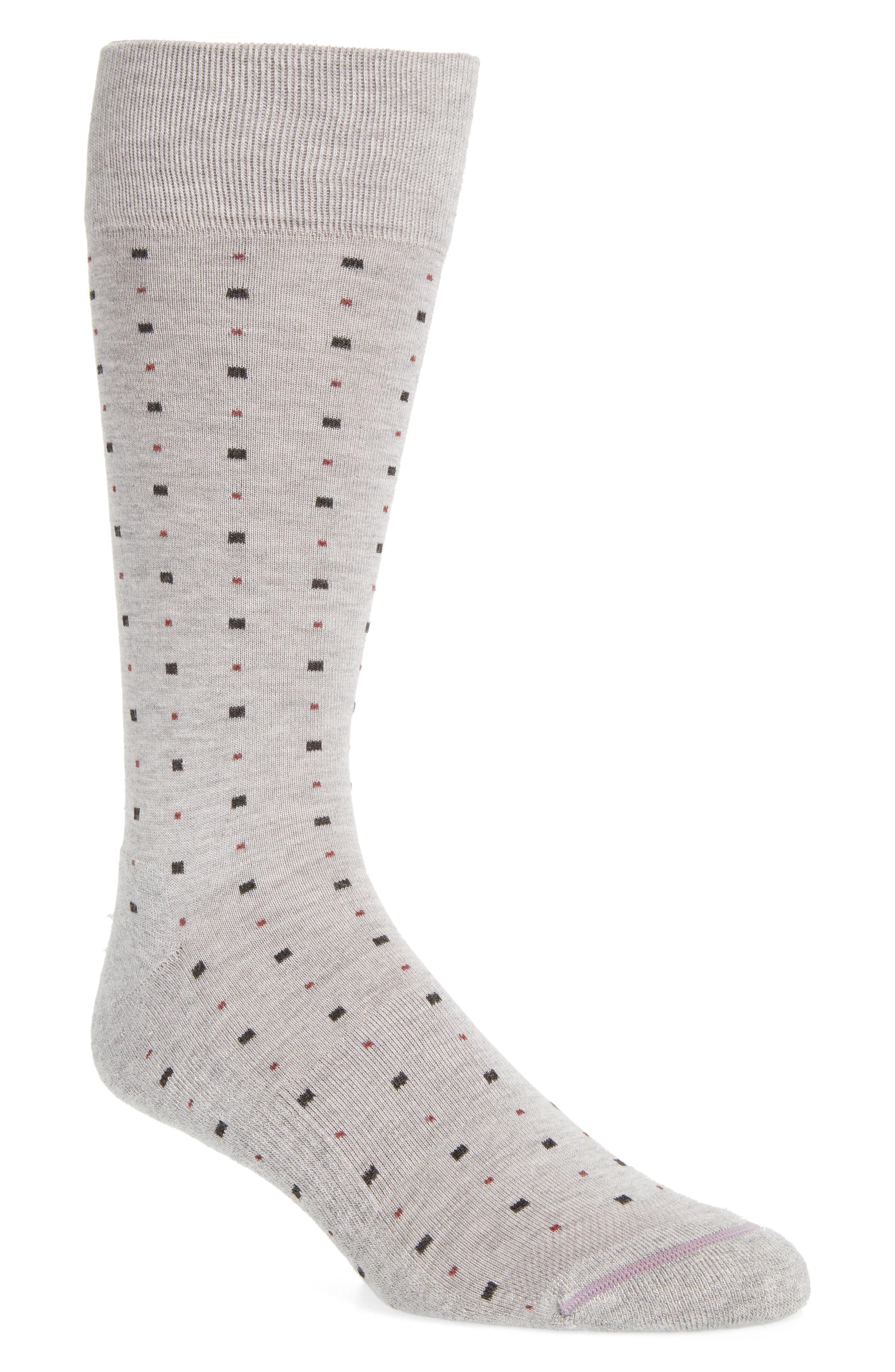 Alternate Image 1 Selected - Nordstrom Men's Shop Box Dot Crew Socks (3 for $30)