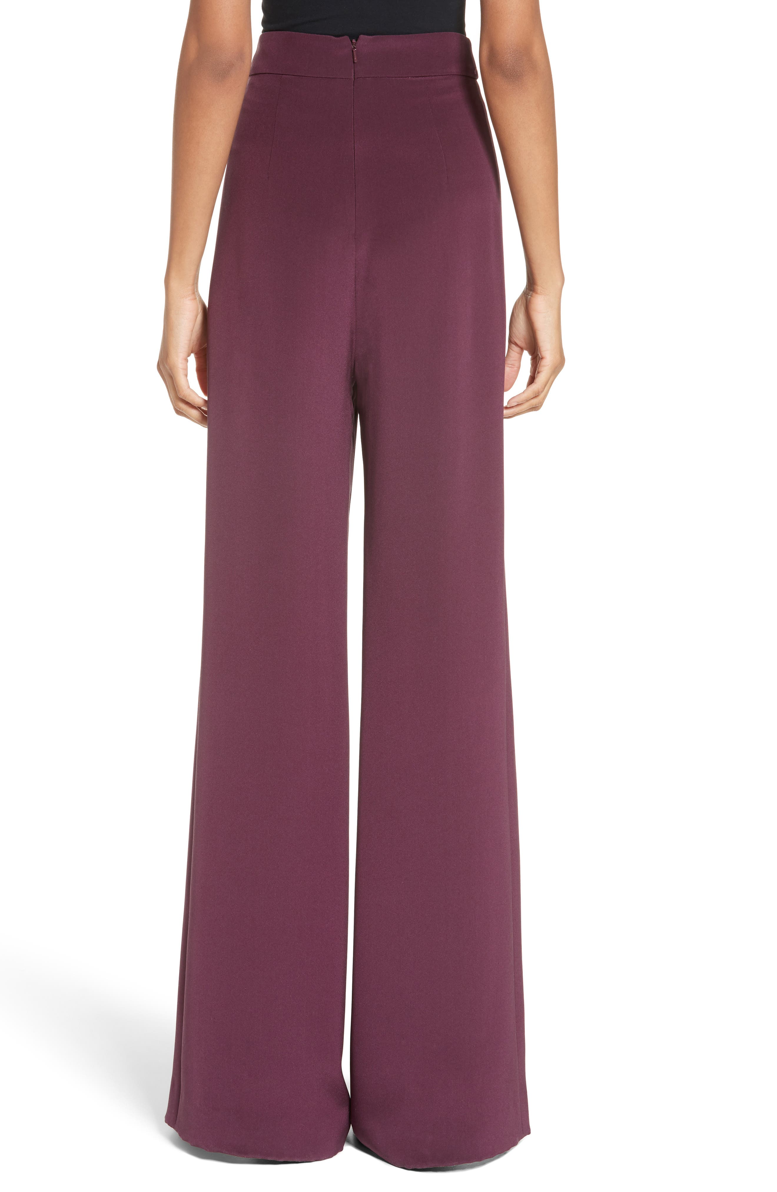 Alternate Image 2  - Cushnie et Ochs Slit Silk High Waisted Pants
