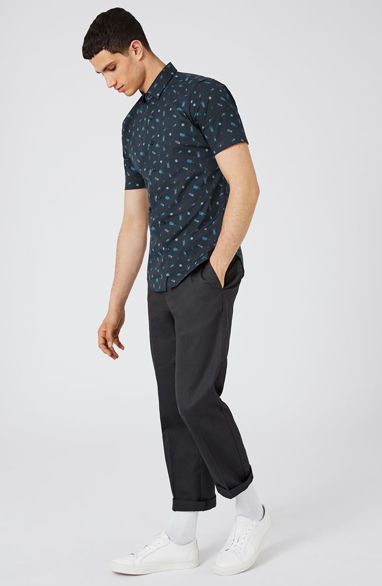 Alternate Image 2  - Topman Muscle Fit Bug Print Shirt