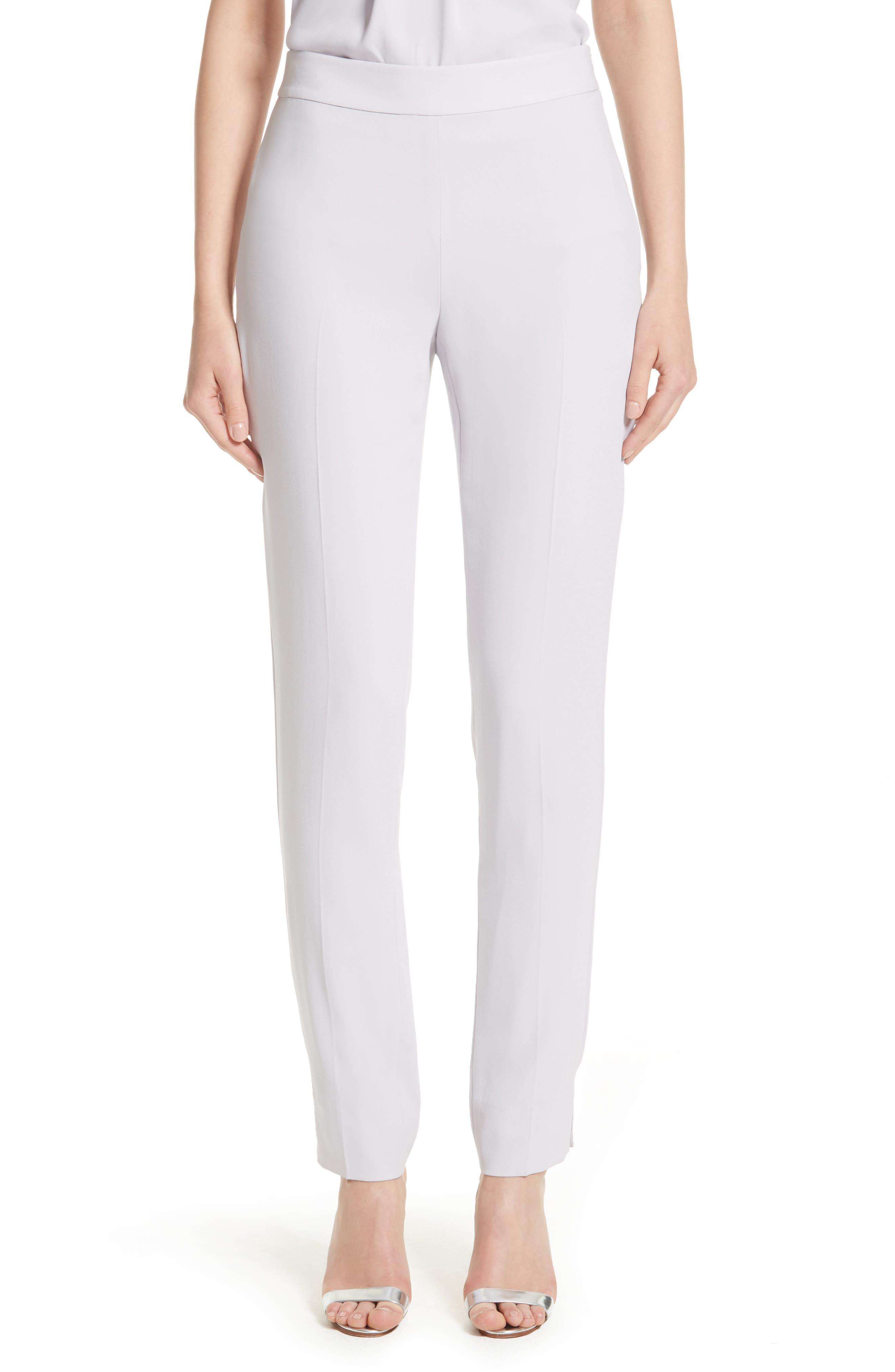 Alternate Image 1 Selected - St. John Collection Emma Satin Back Crepe Pants