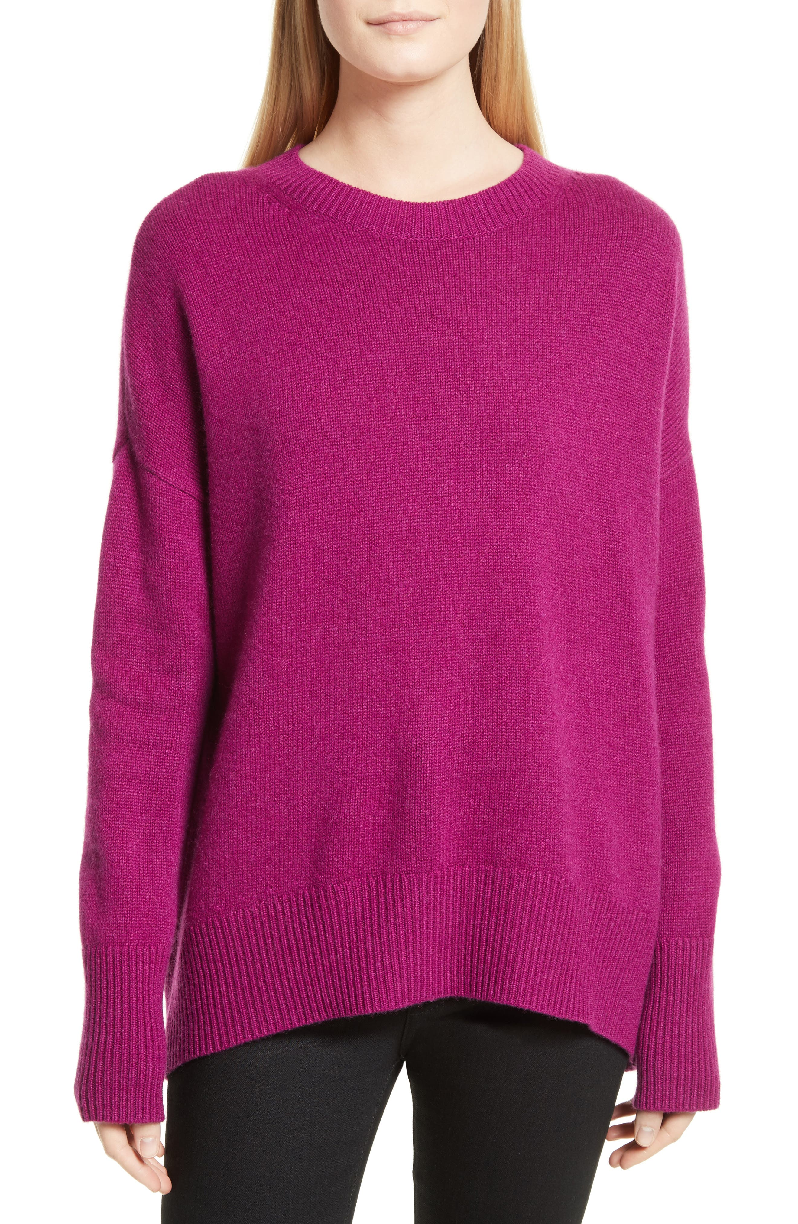Karenia R Cashmere Sweater,                         Main,                         color, Fuschia
