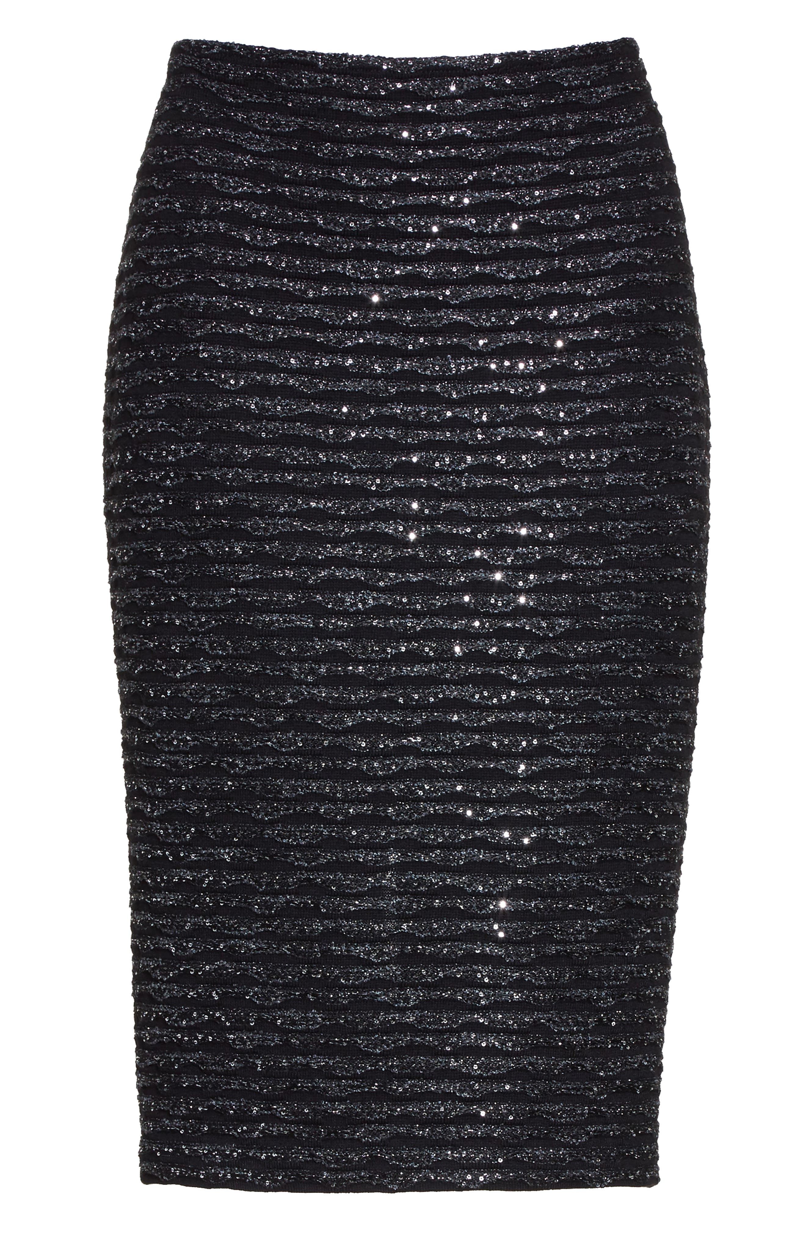Alternate Image 6  - St. John Collection Sparkle Wave Tweed Knit Skirt