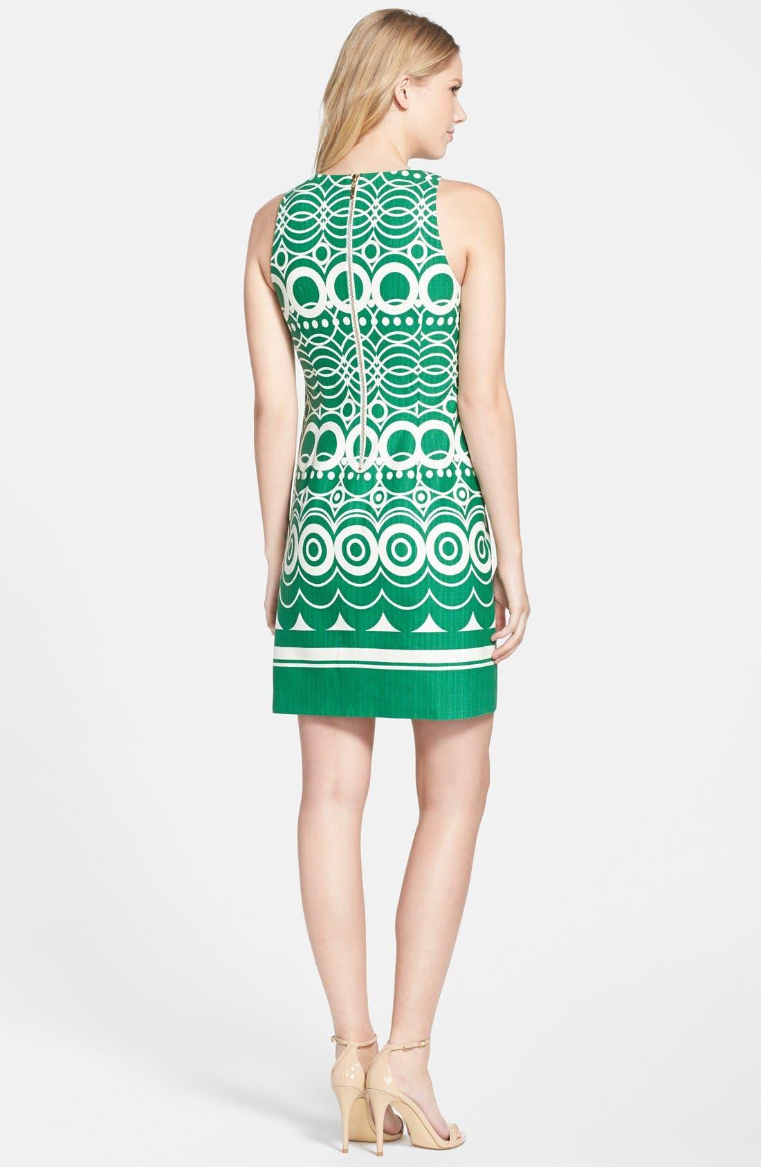 Alternate Image 2  - Eliza J Graphic Print Cotton Shift Dress (Regular & Petite)