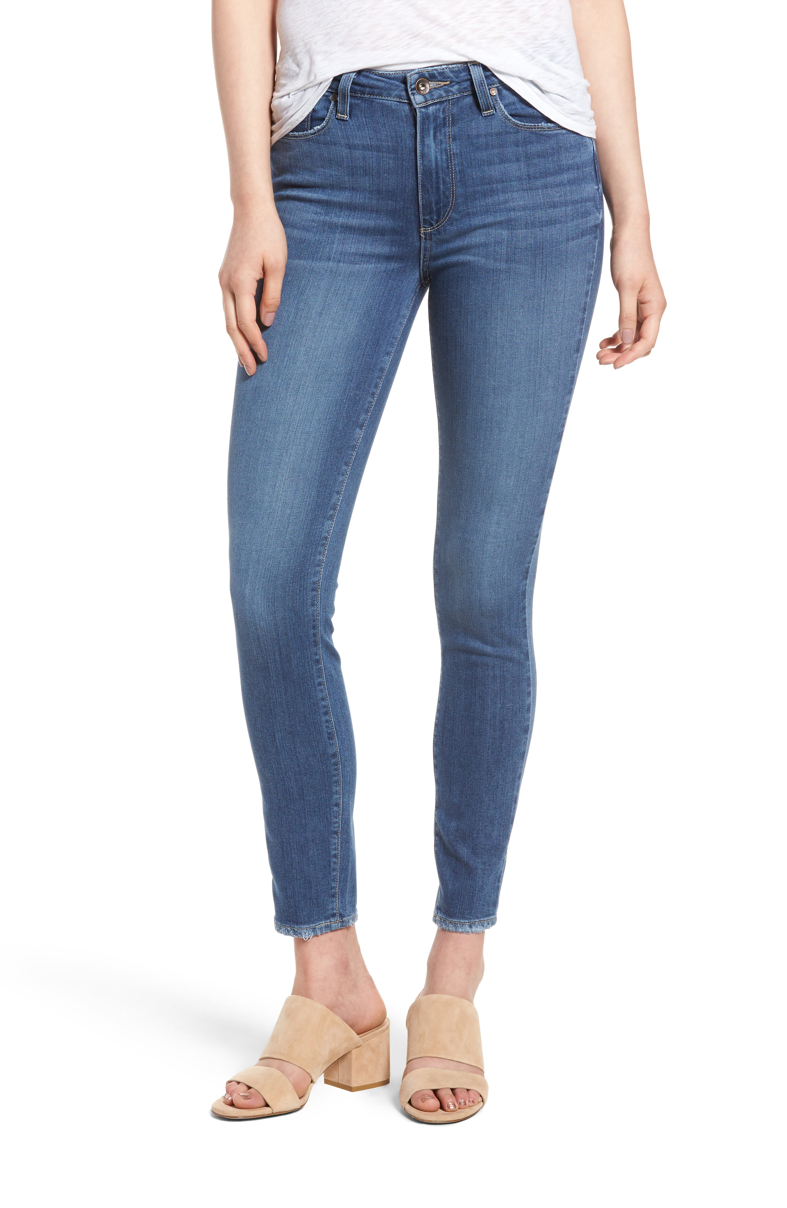 Main Image - PAIGE Hoxton High Waist Ankle Skinny Jeans (Roman)
