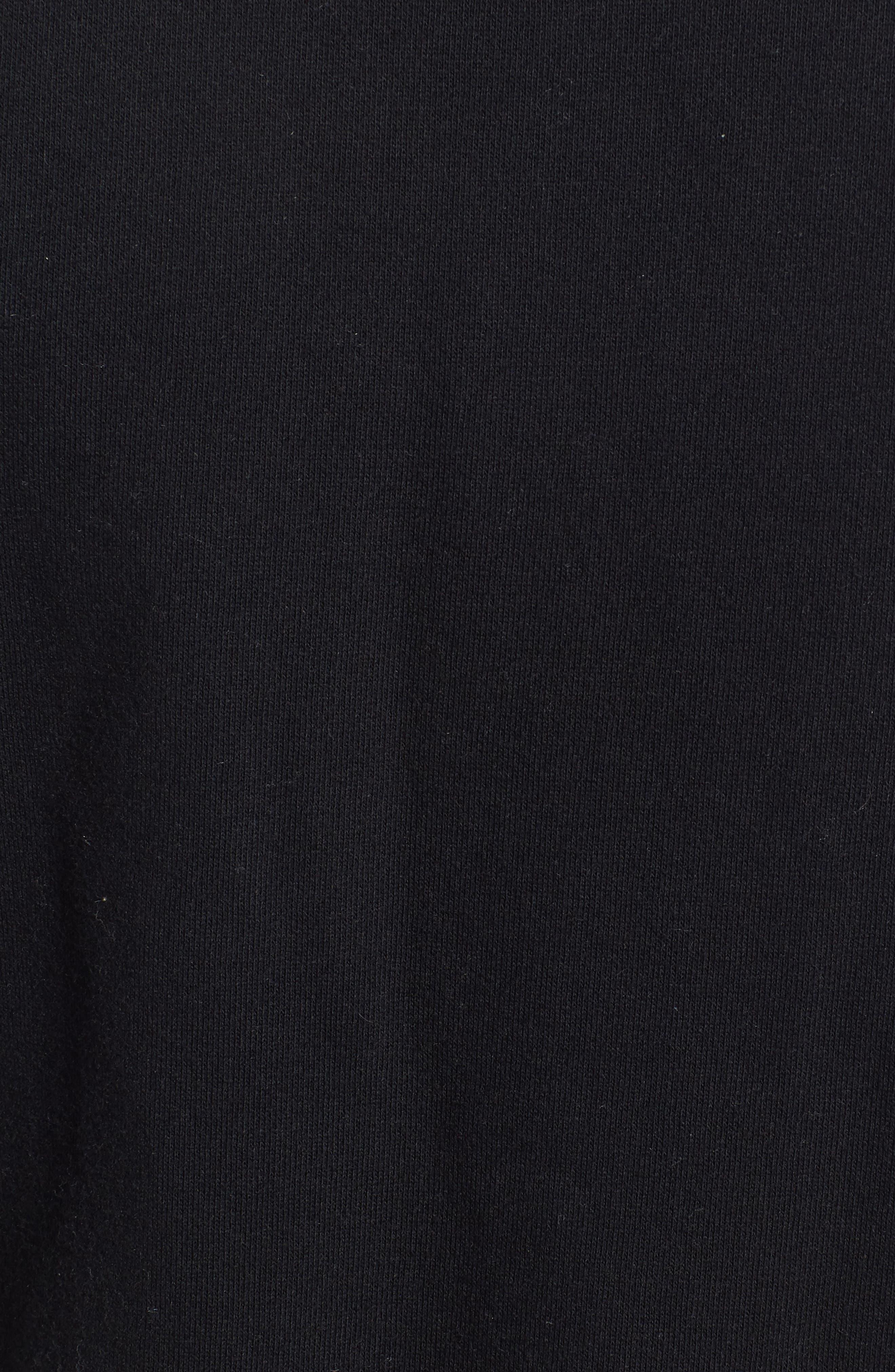 x KARL LAGERFELD Bomber Jacket,                             Alternate thumbnail 5, color,                             Black