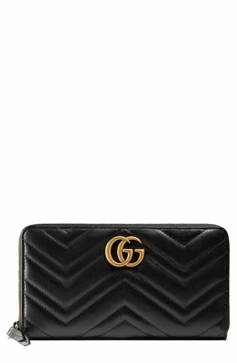 7efecec62ca Gucci GG Marmont Matelassé Leather Zip-Around Wallet