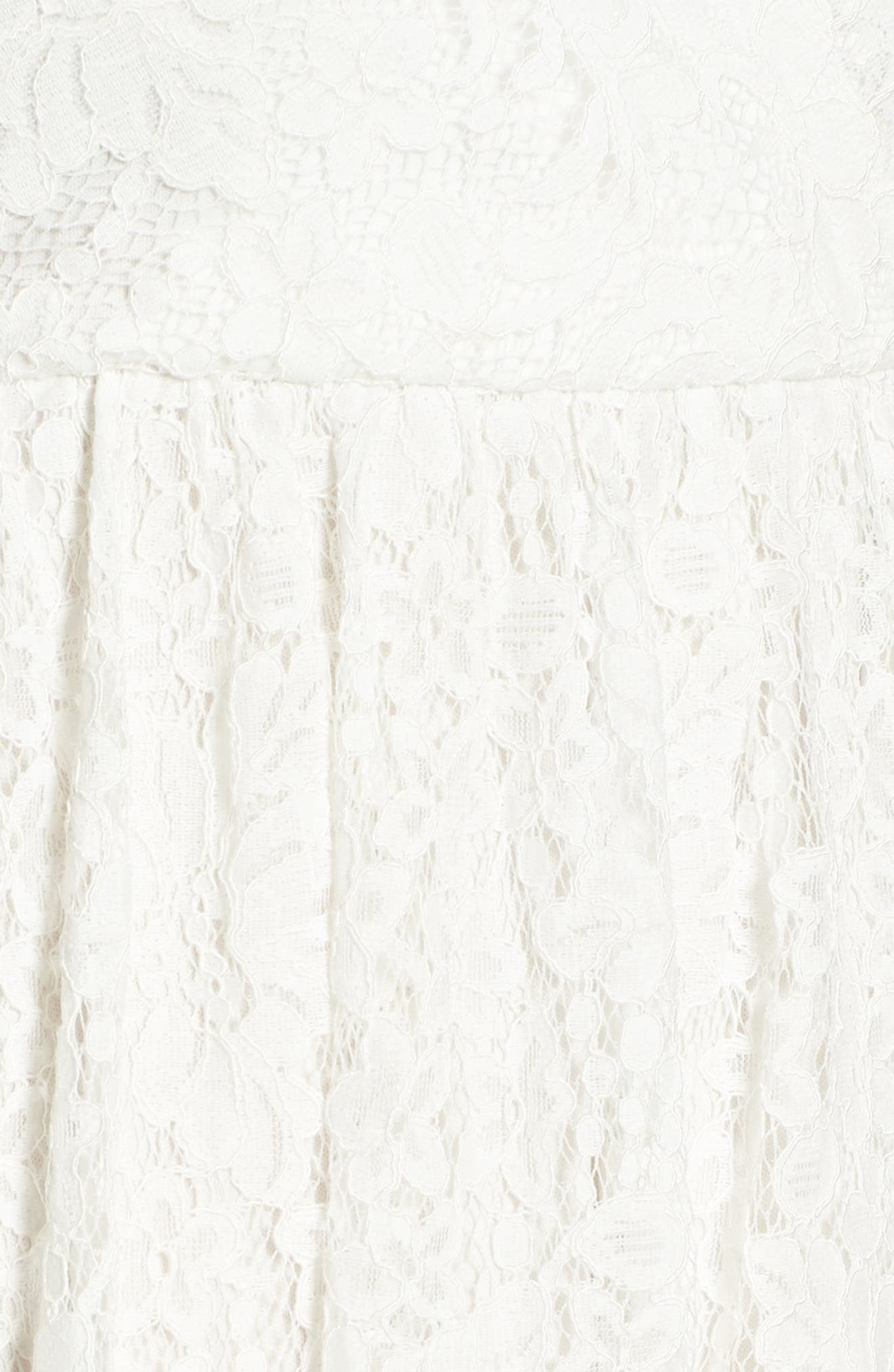 Lace Skater Dress,                             Alternate thumbnail 5, color,                             Ivory