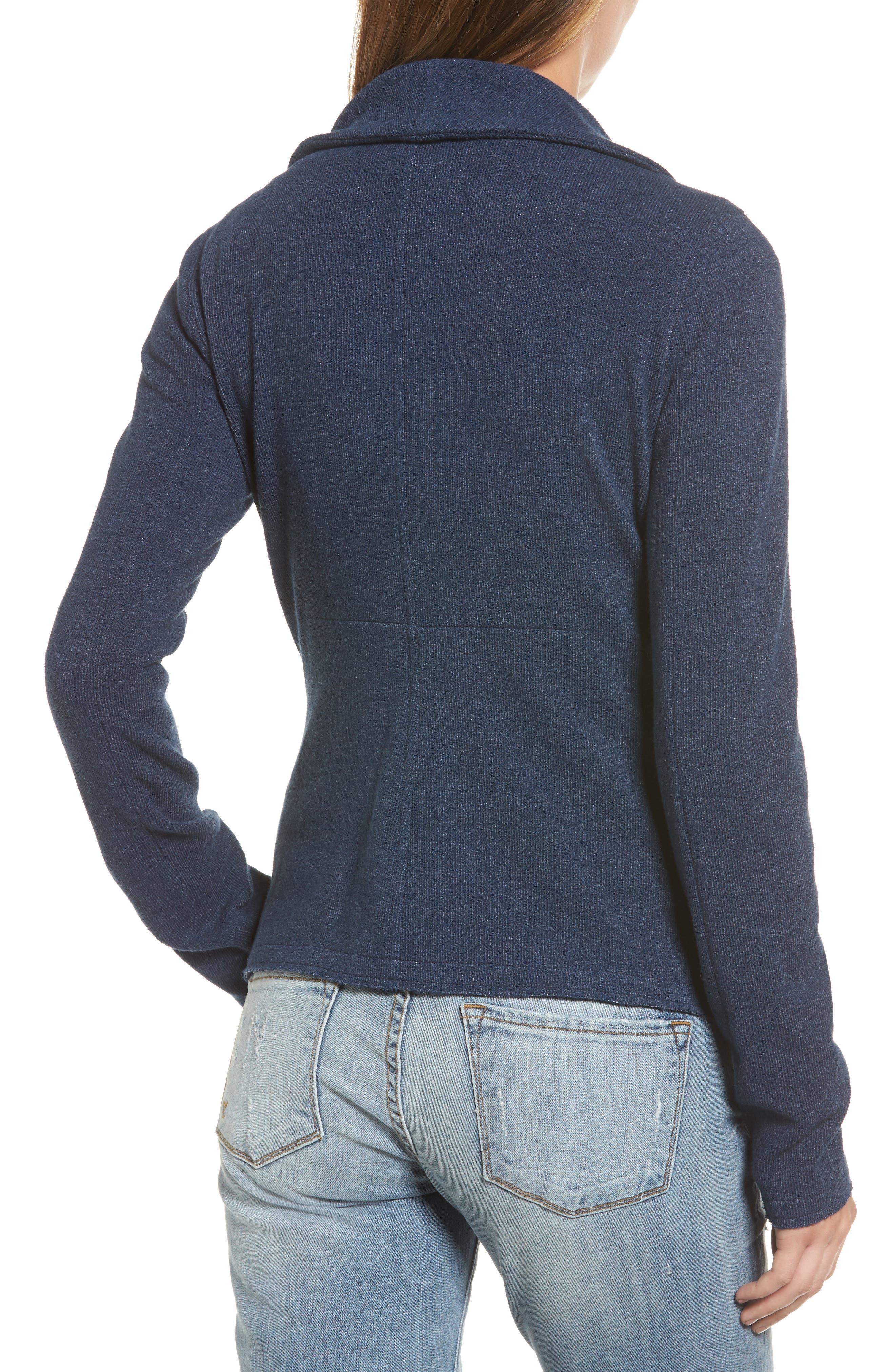 Alternate Image 2  - Caslon® Knit Moto Jacket (Regular & Petite)