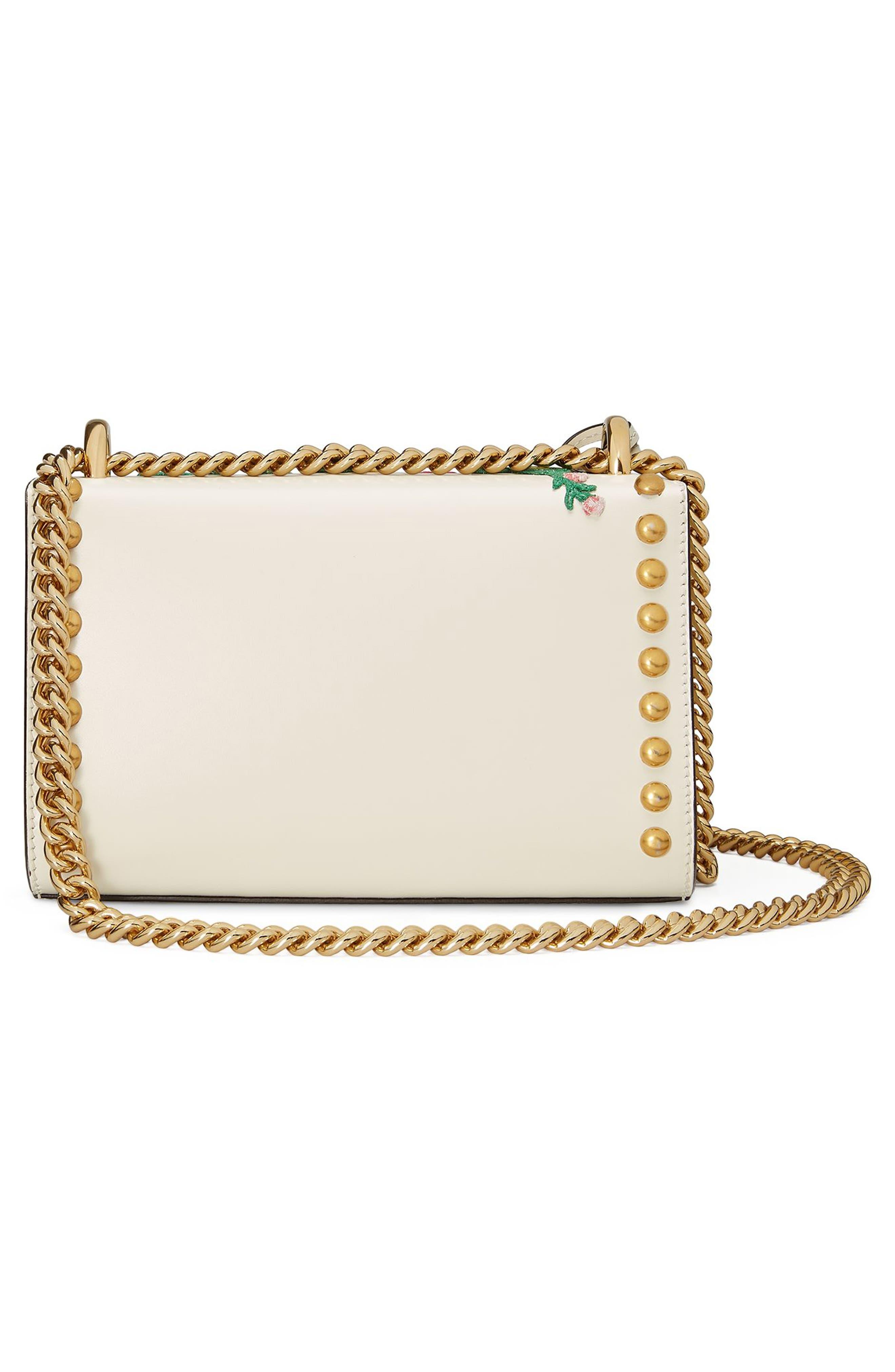 Alternate Image 2  - Gucci Small Padlock Embroidered Leather Shoulder Bag