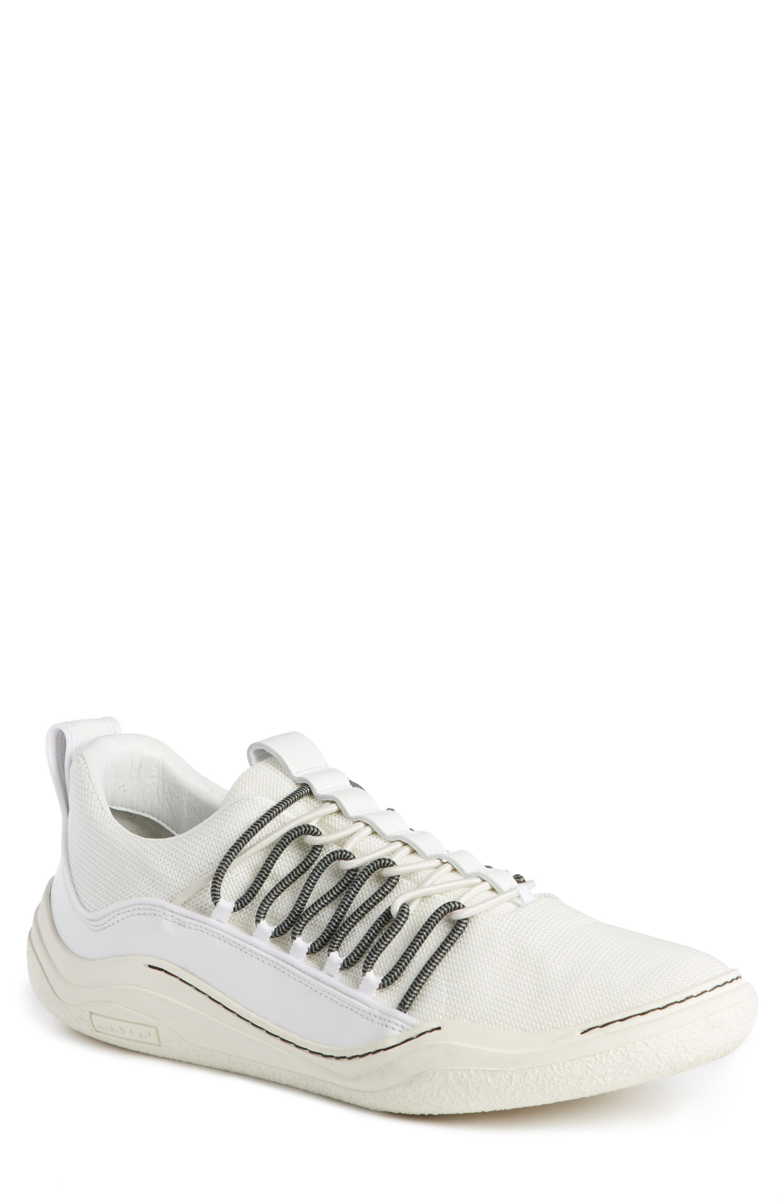 Elastic Sneaker,                             Main thumbnail 1, color,                             White