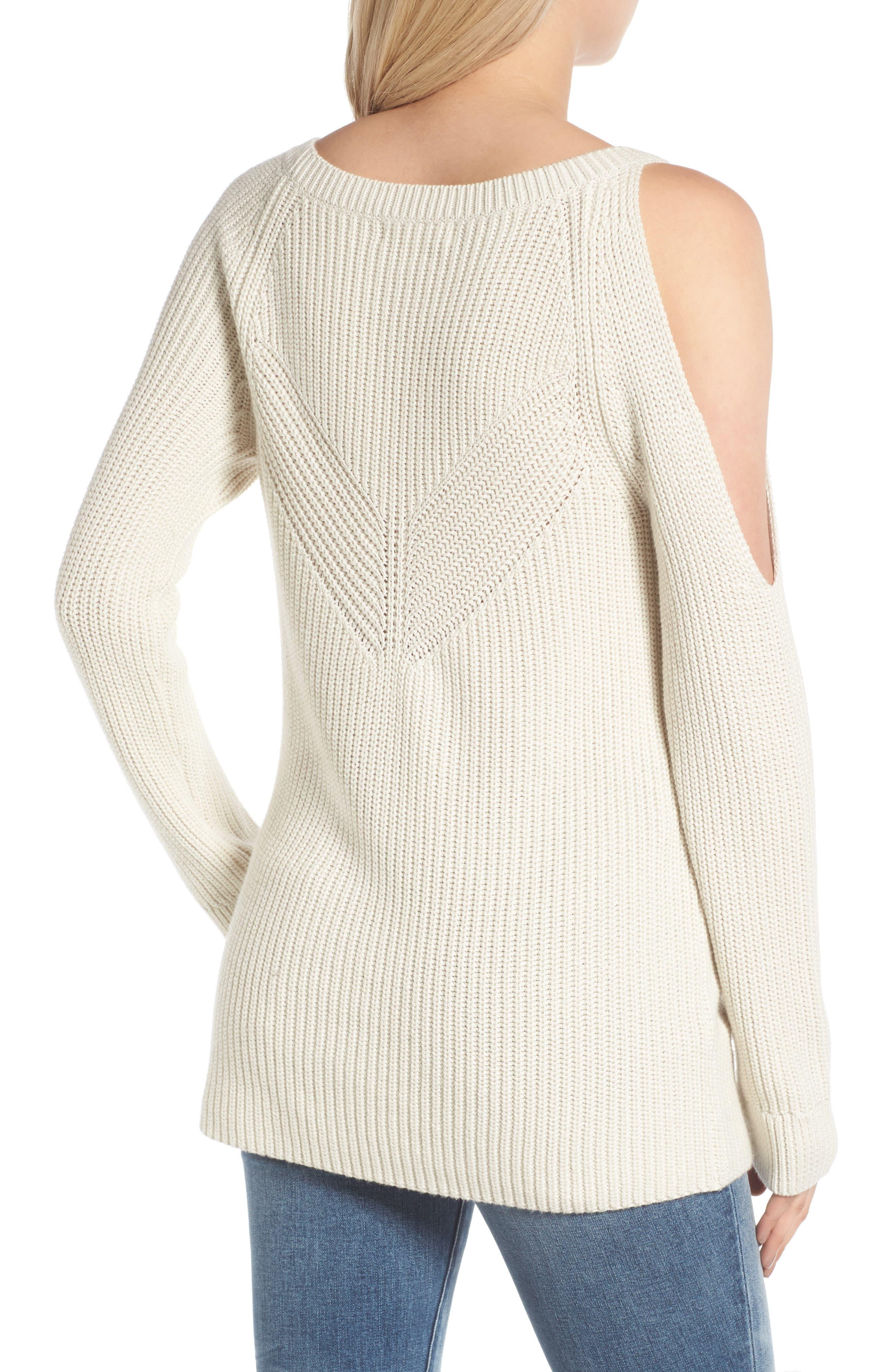 Alternate Image 2  - Treasure & Bond Asymmetrical Cold Shoulder Sweater