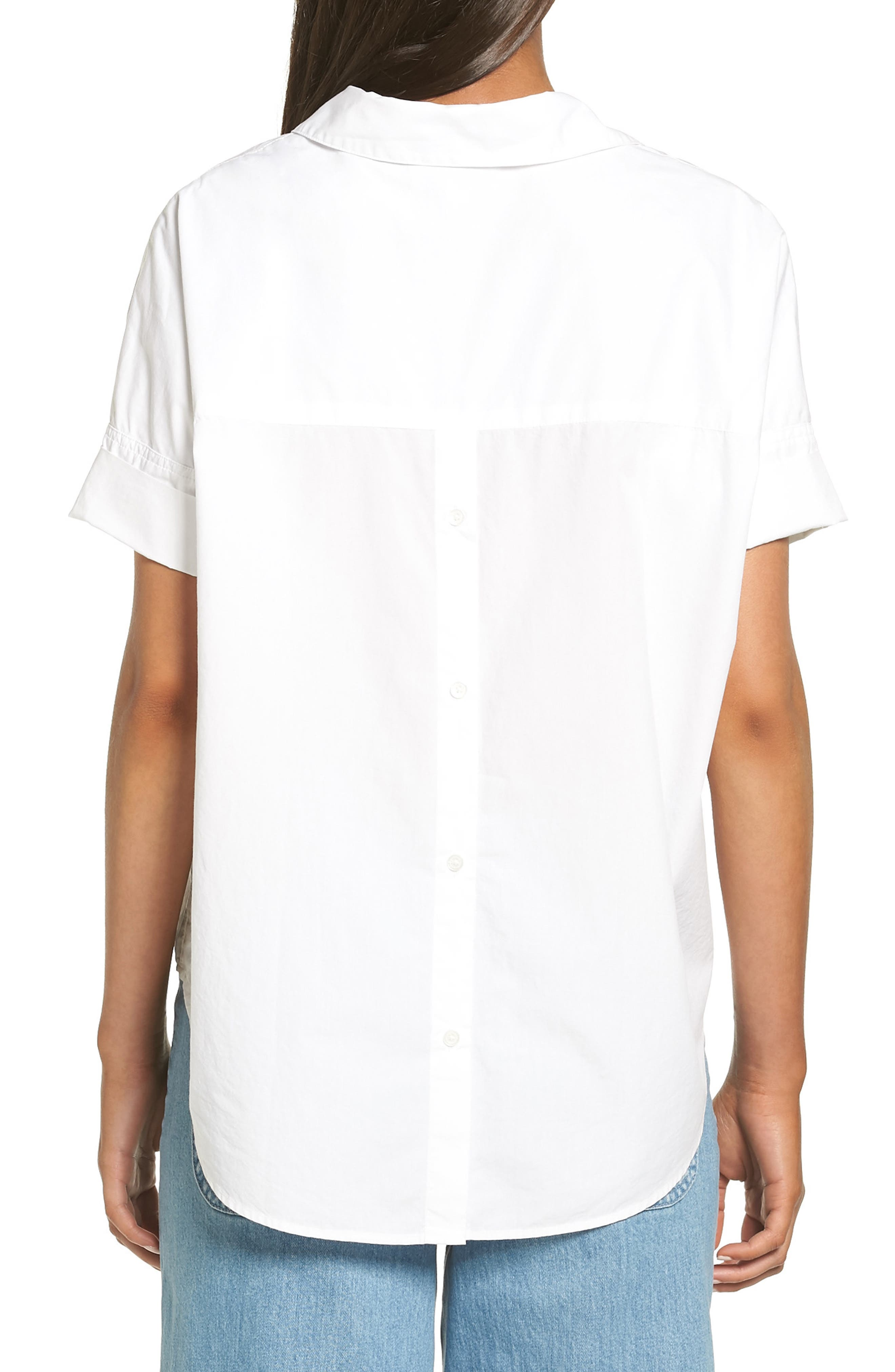 Courier Cotton Shirt,                             Alternate thumbnail 2, color,                             Eyelet White