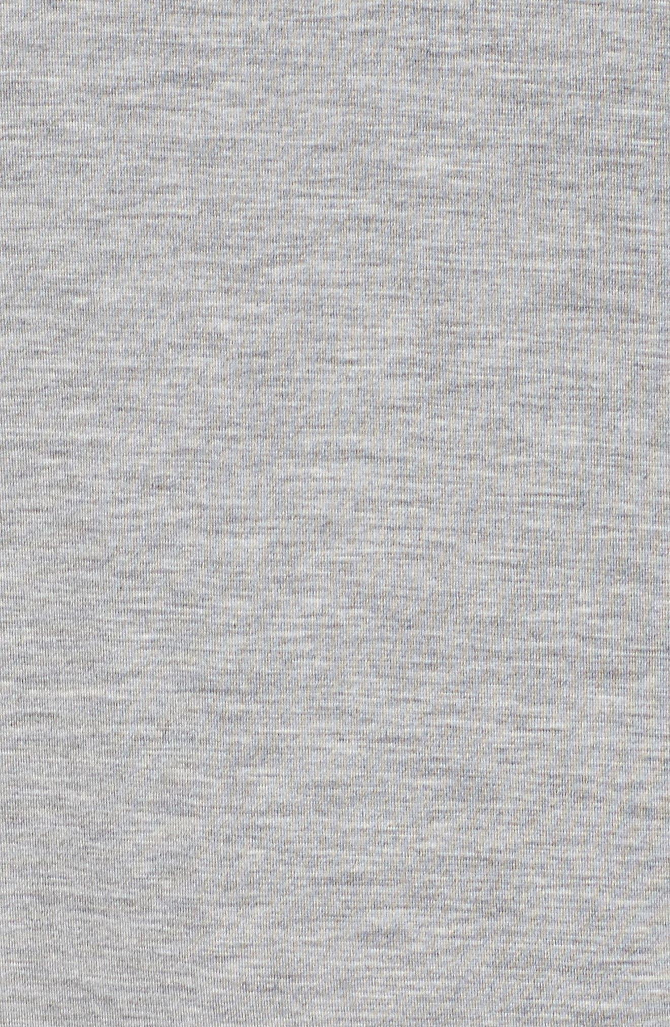Sleep Shirt,                             Alternate thumbnail 5, color,                             Light Grey Heather