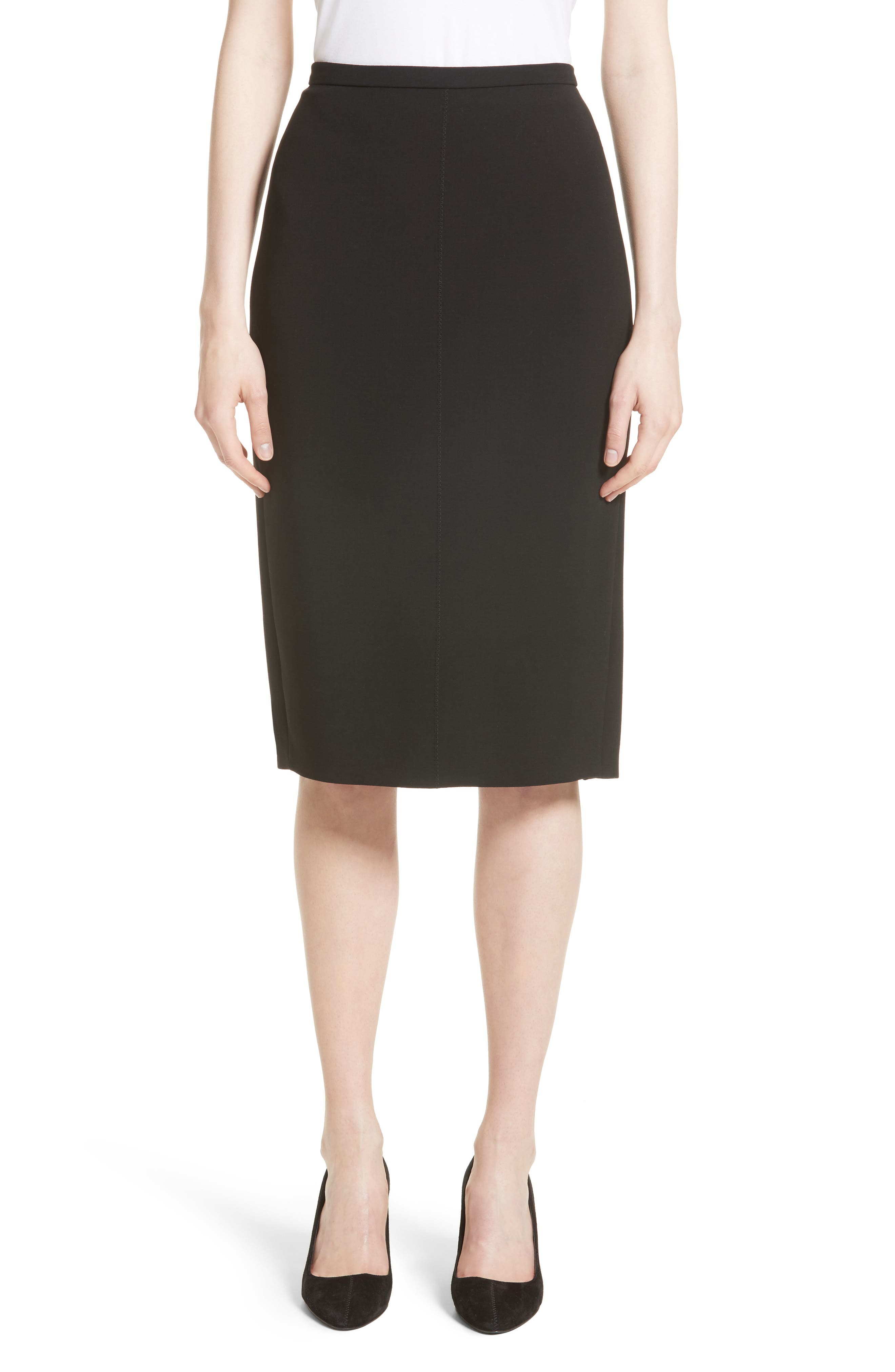 Main Image - Max Mara Bugia Stretch Wool Skirt
