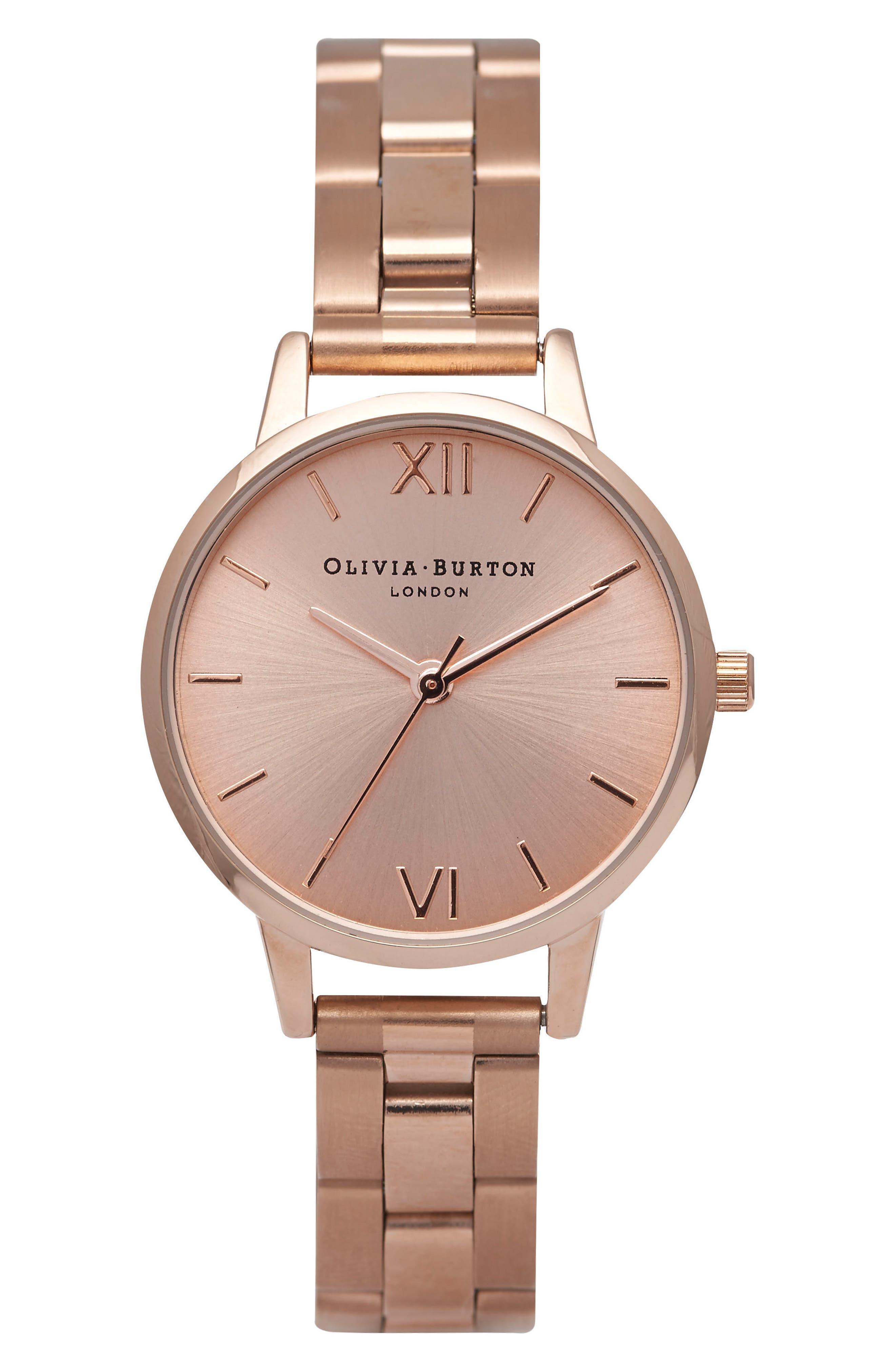 Alternate Image 1 Selected - Olivia Burton Midi Dial Bracelet Watch, 30mm