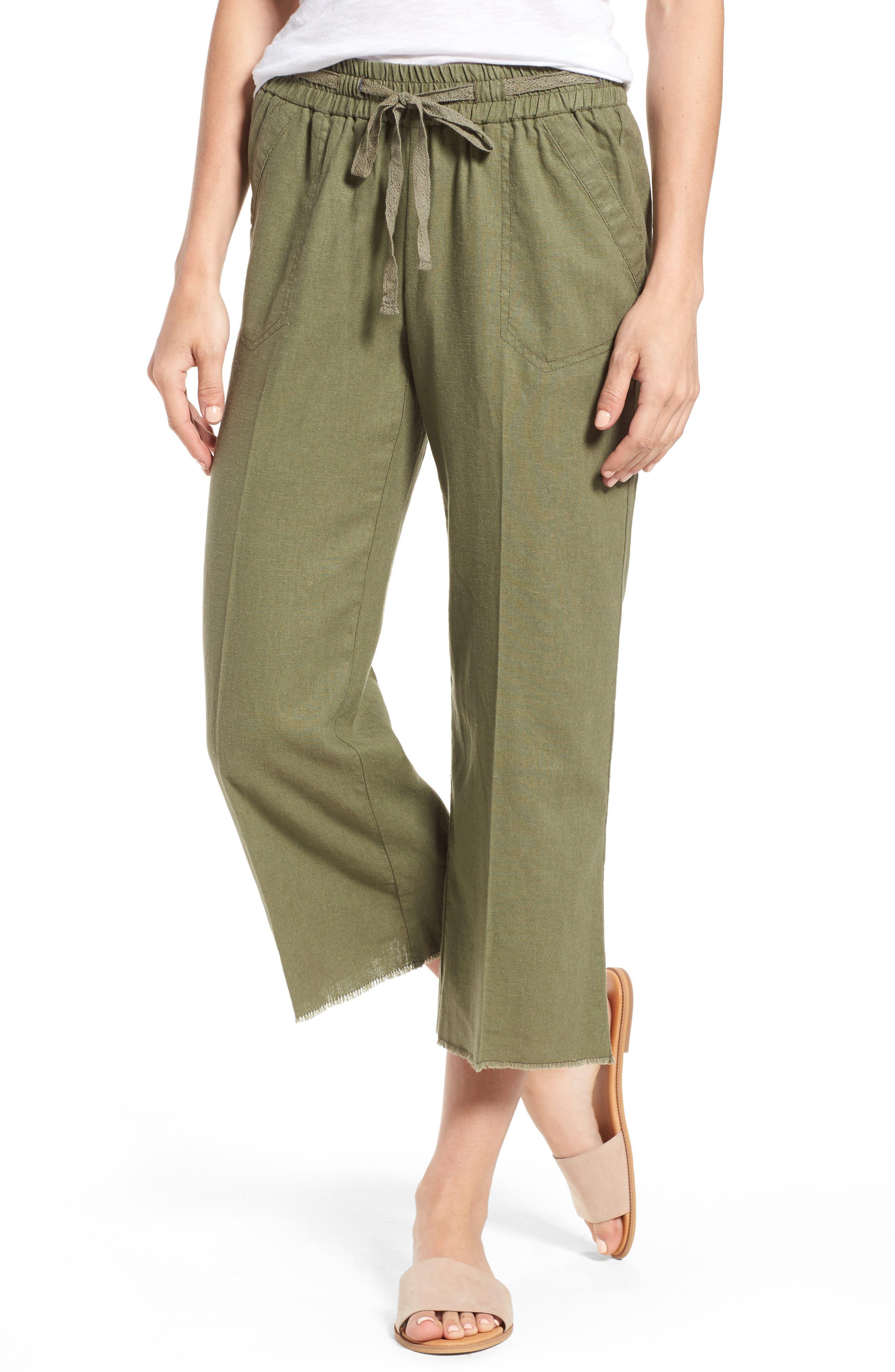 Wit & Wisdom Drawstring Crop Sailor Pants (Regular & Petite) (Nordstrom Exclusive)