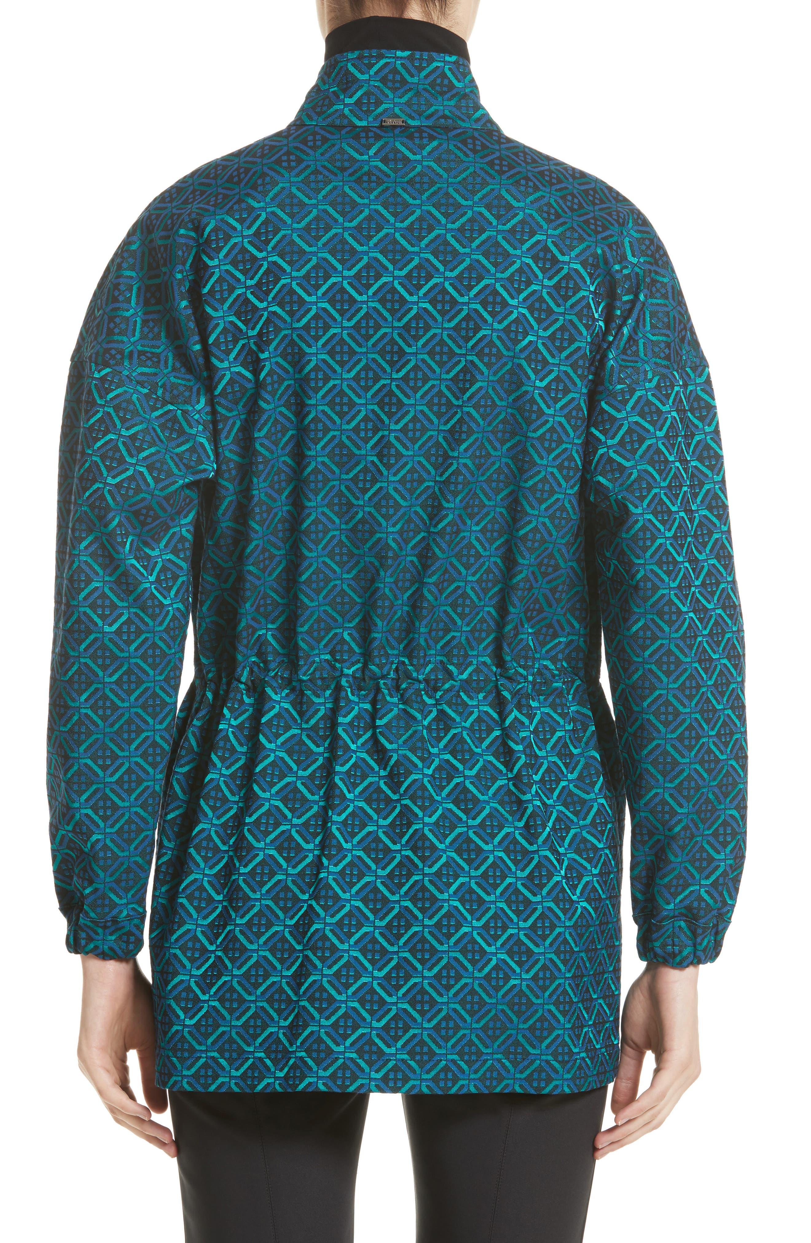 Alternate Image 2  - St. John Collection Tile Jacquard Funnel Neck Jacket
