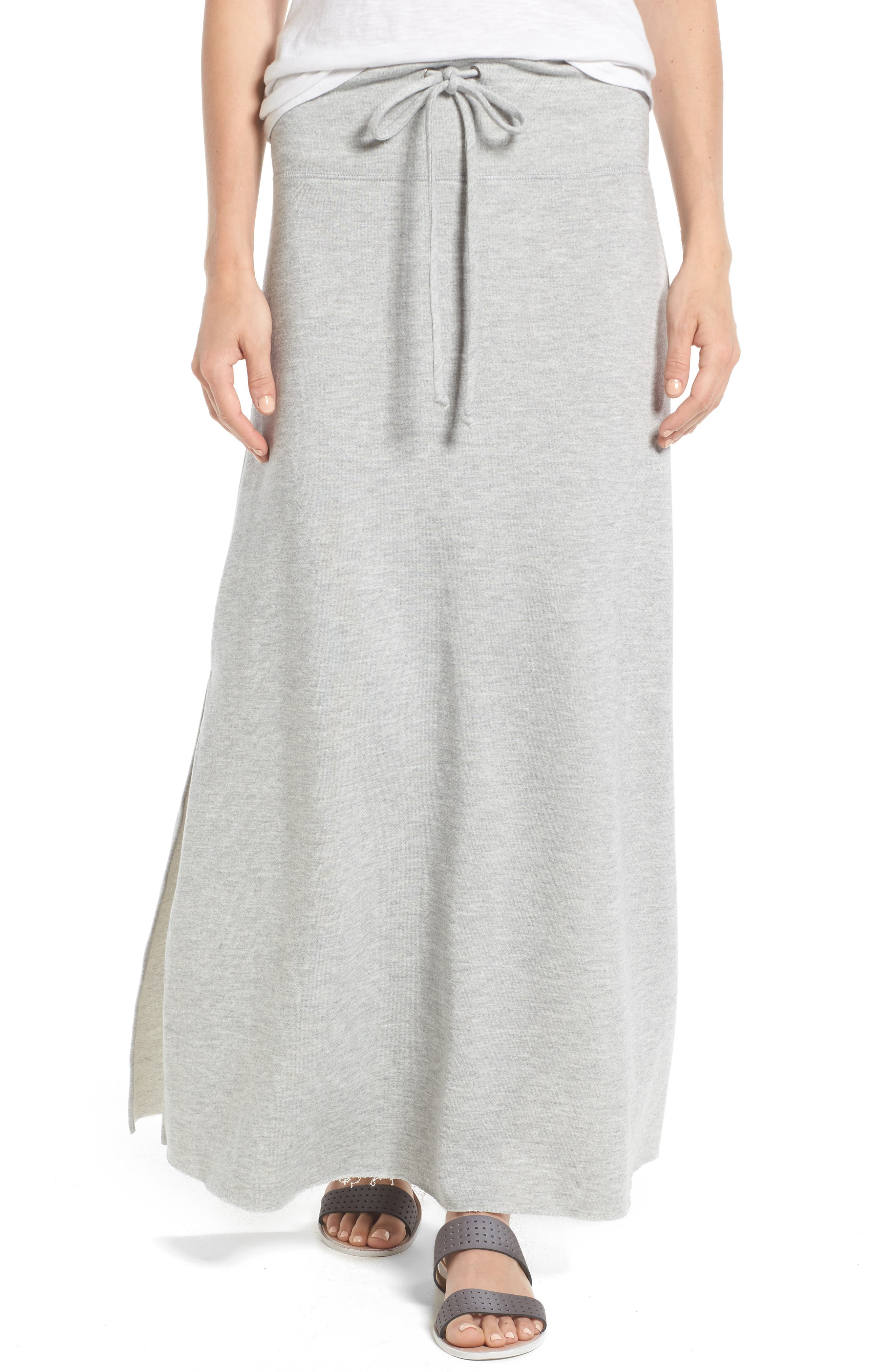 Caslon® Drawstring Knit Maxi Skirt (Regular & Petite)