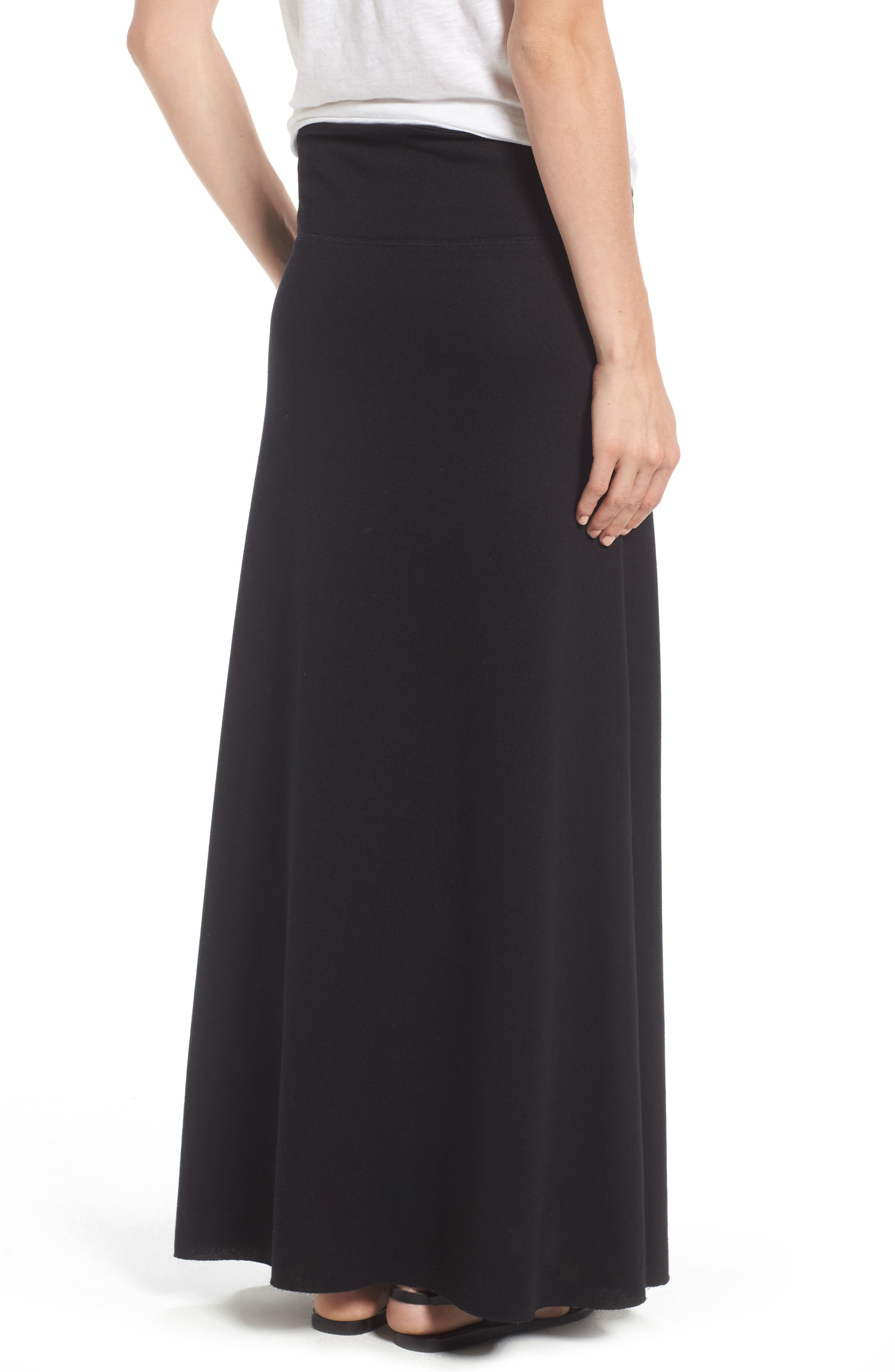 Alternate Image 2  - Caslon® Drawstring Knit Maxi Skirt (Regular & Petite)
