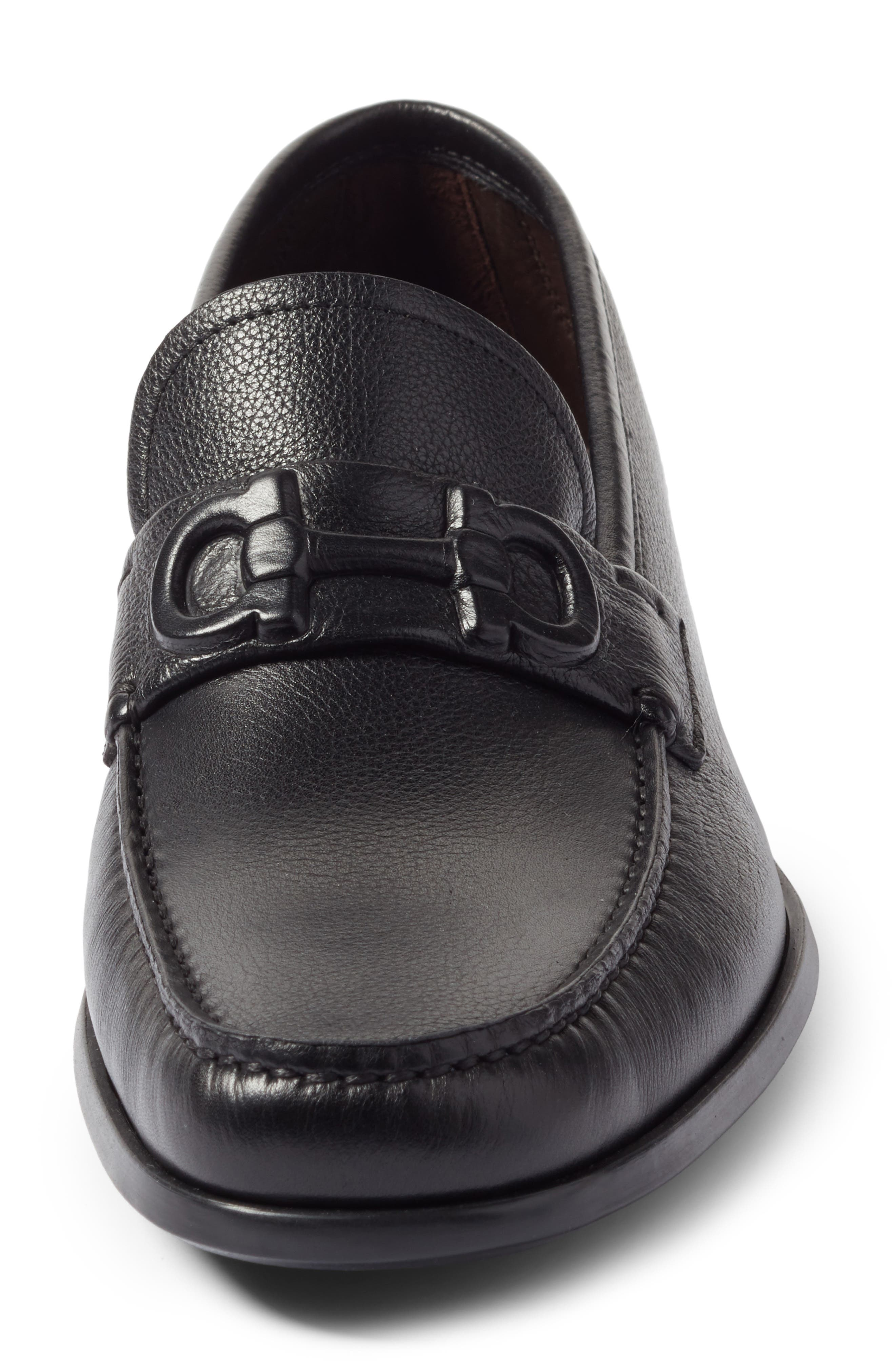 Bit Loafer,                             Alternate thumbnail 4, color,                             Nero Leather