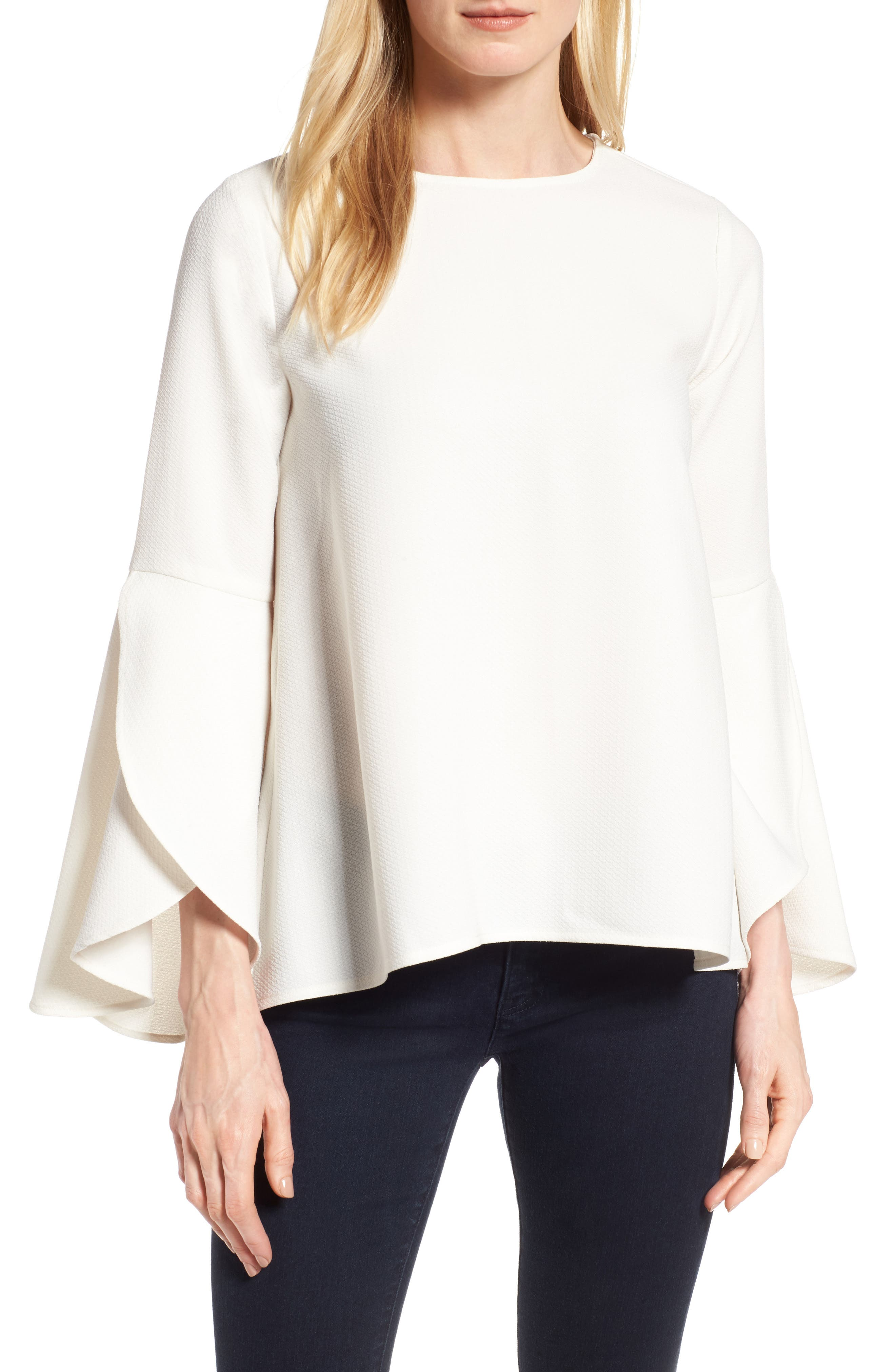 Halogen® Bell Sleeve Top (Regular & Petite)