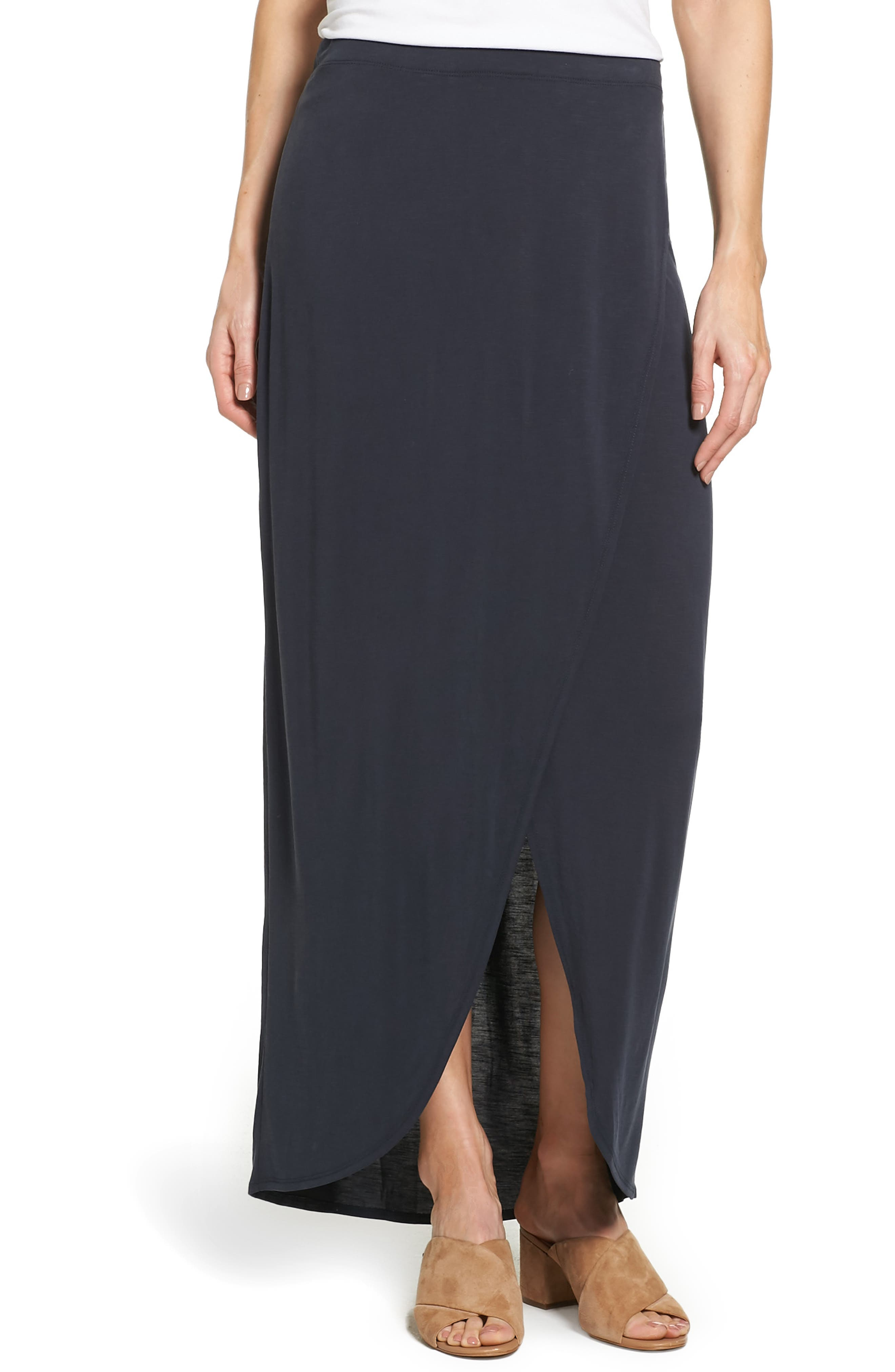 NIC+ZOE Boardwalk Knit Wrap Maxi Skirt (Regular & Petite)