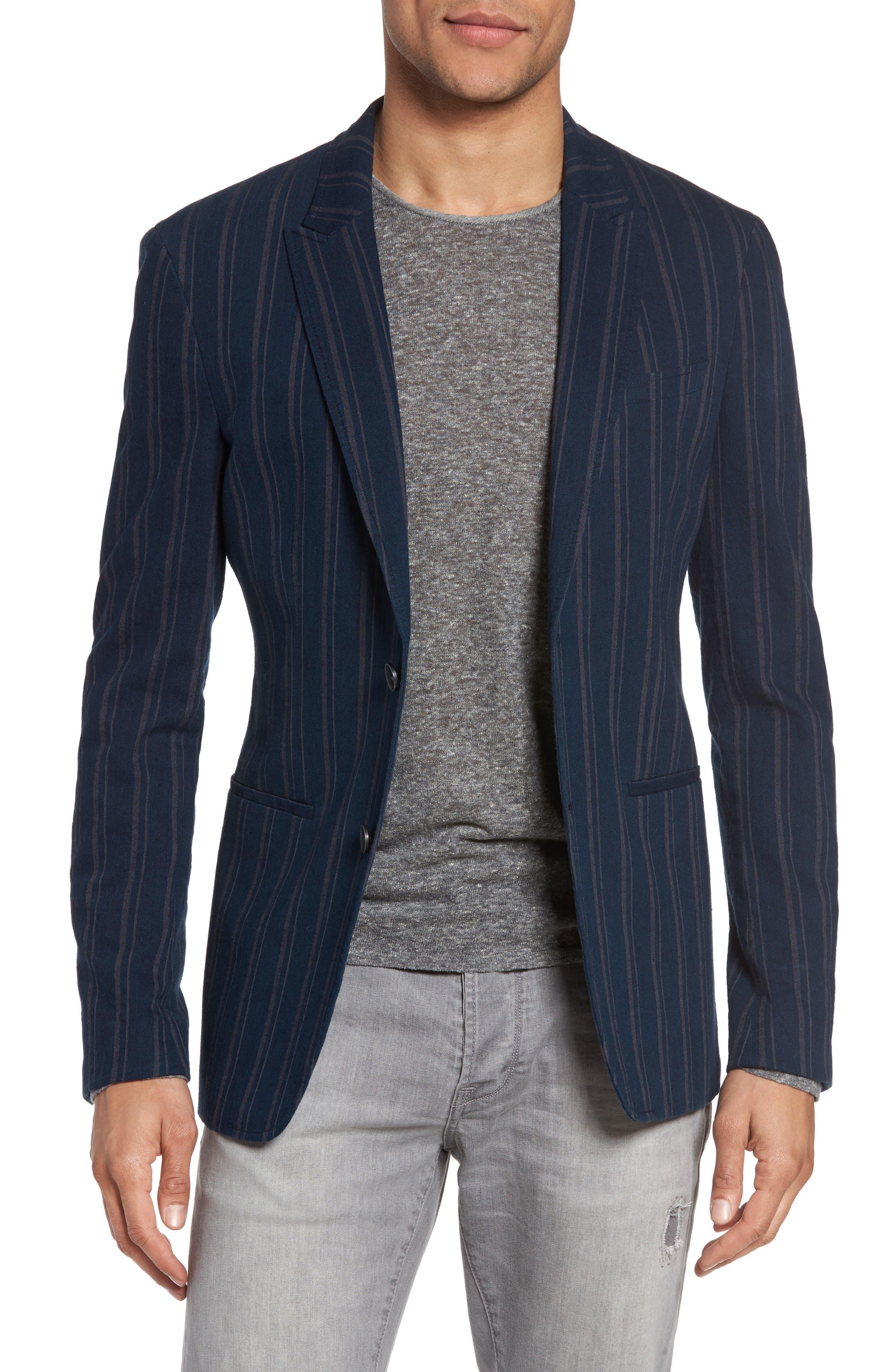 John Varvatos Collection Stripe Sport Coat