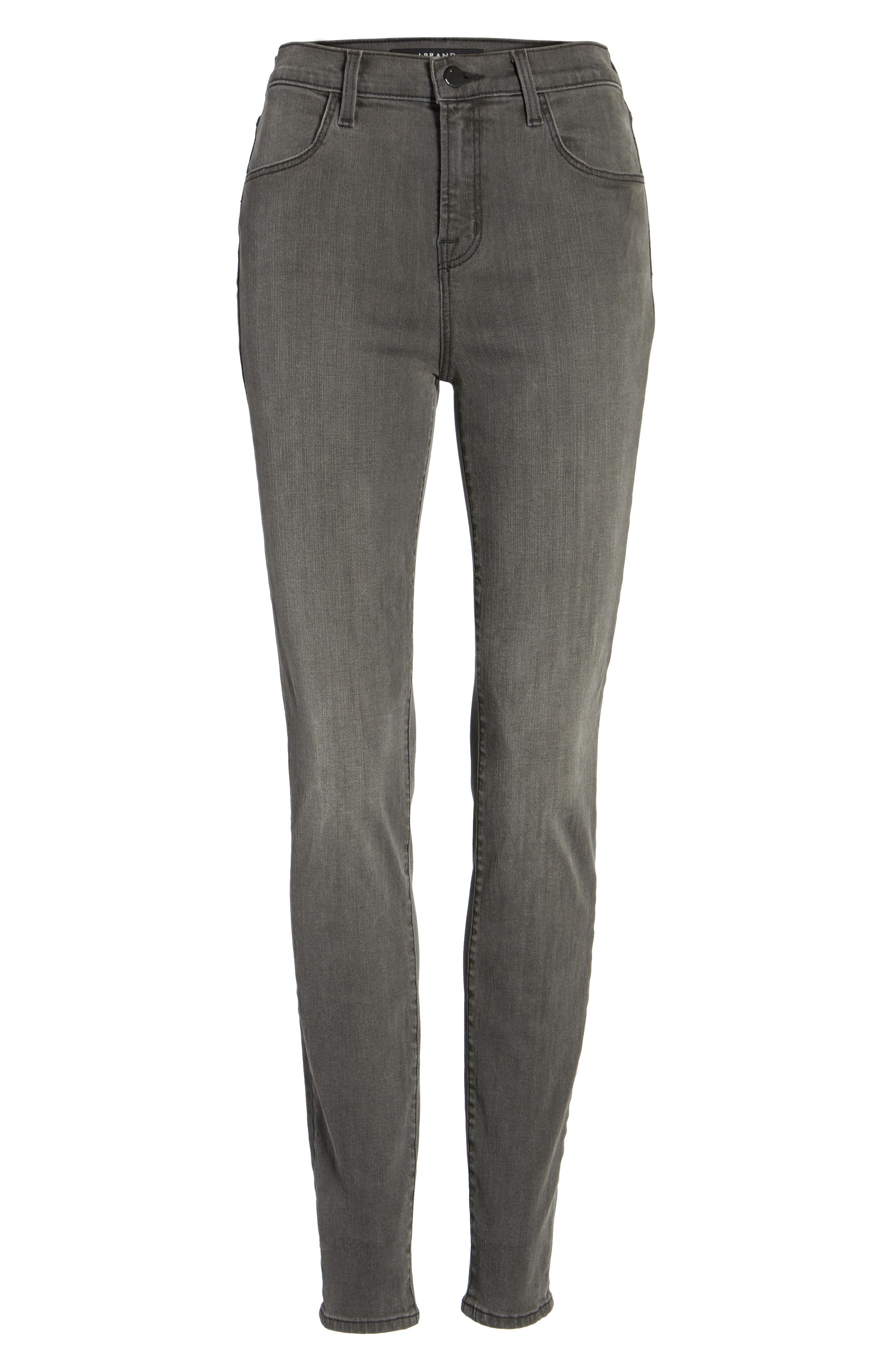 Alternate Image 5  - J Brand Maria High Waist Skinny Jeans (Nightbird)