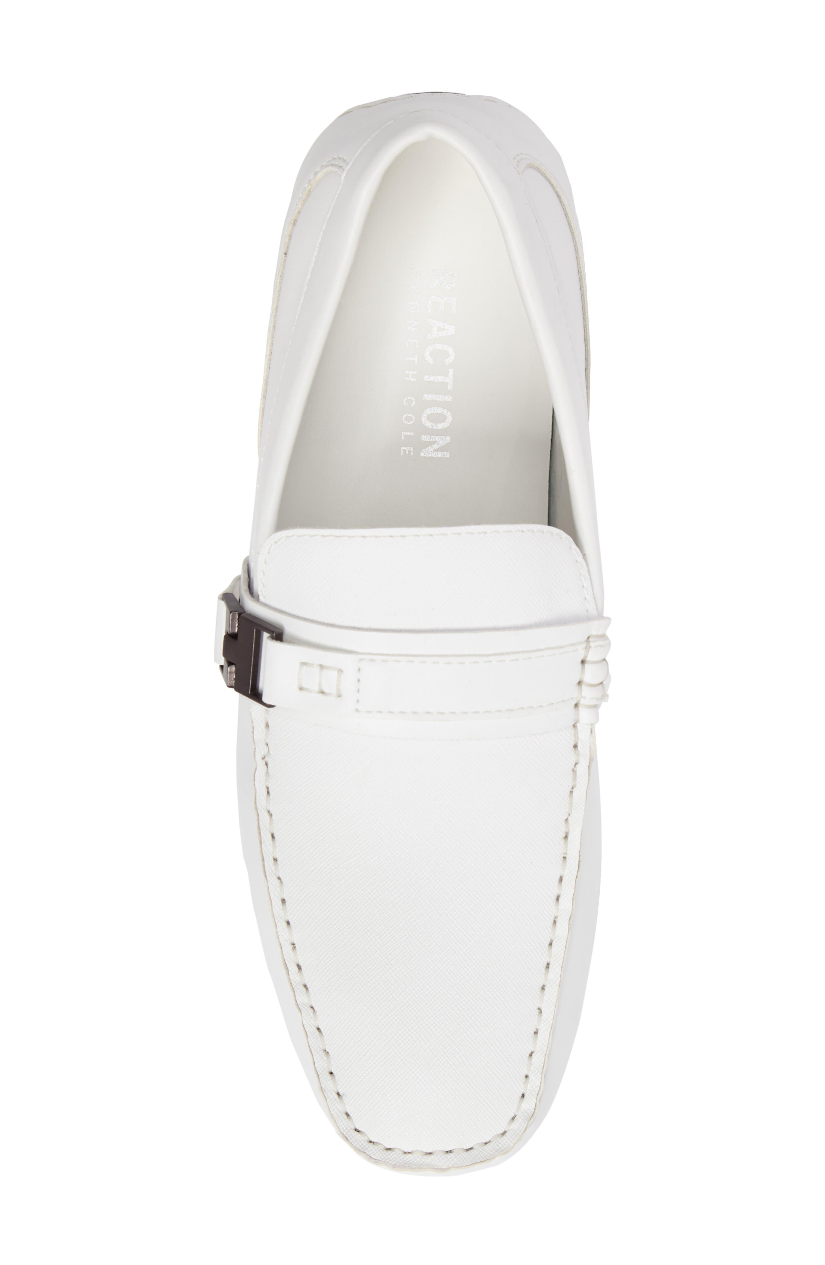 'Toast 2 Me' Driving Shoe,                             Alternate thumbnail 5, color,                             White Leather