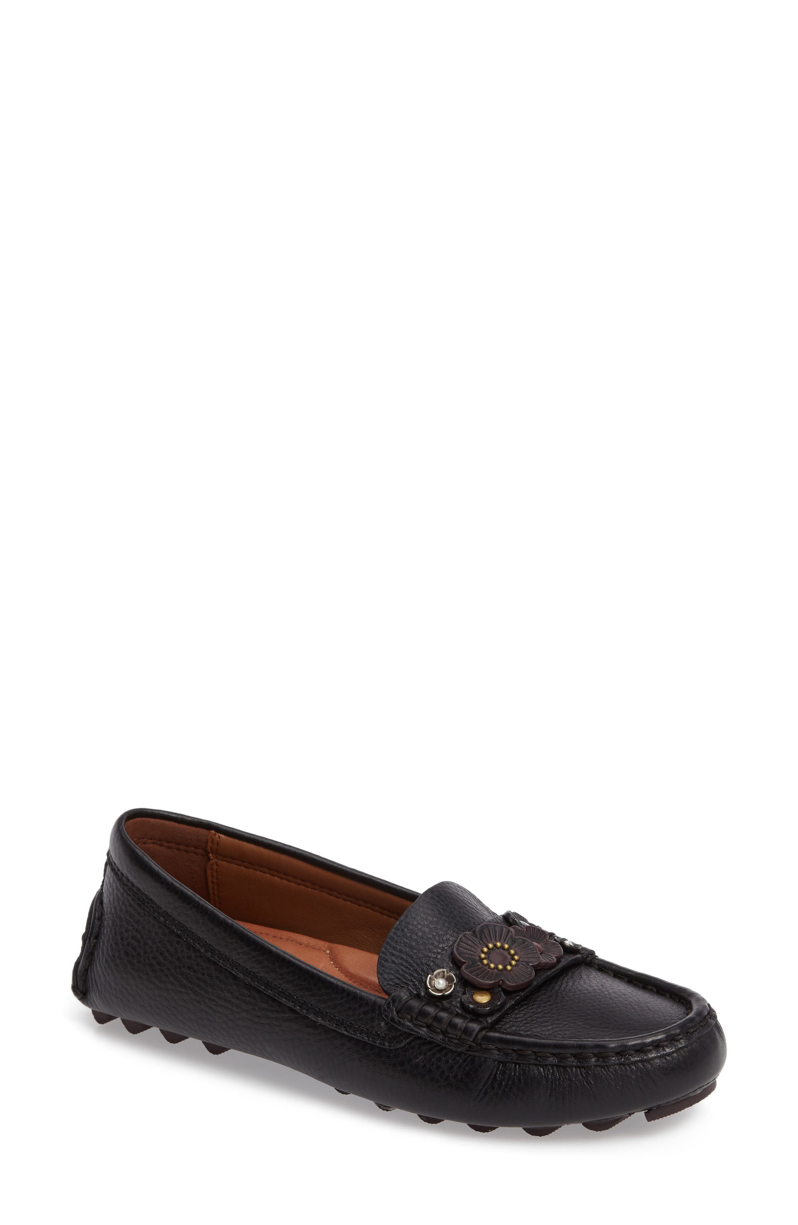 Main Image - COACH Floral Embellished Driving Loafer (Women)