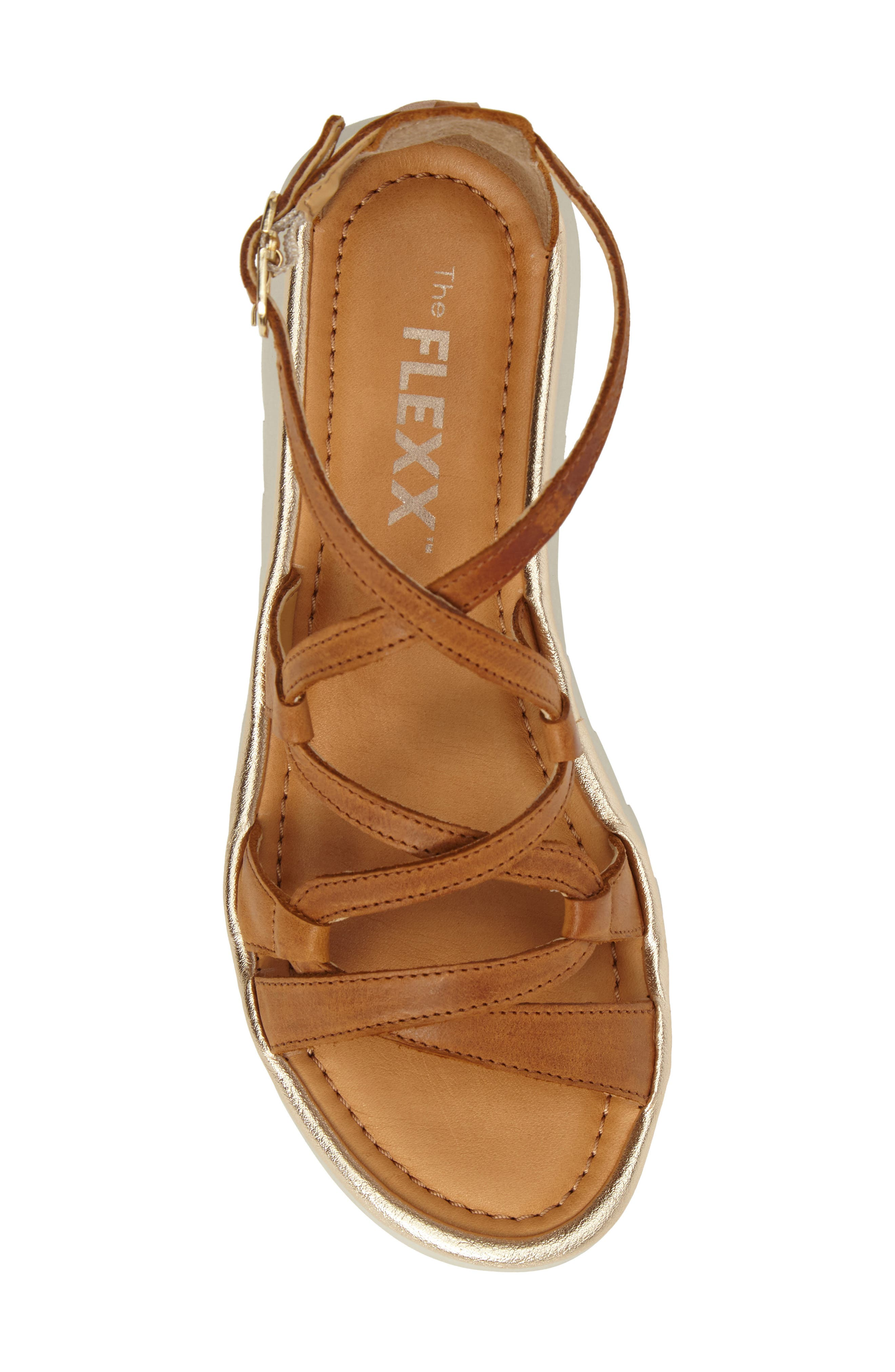 Catch a Wave Sandal,                             Alternate thumbnail 4, color,                             Cognac Leather