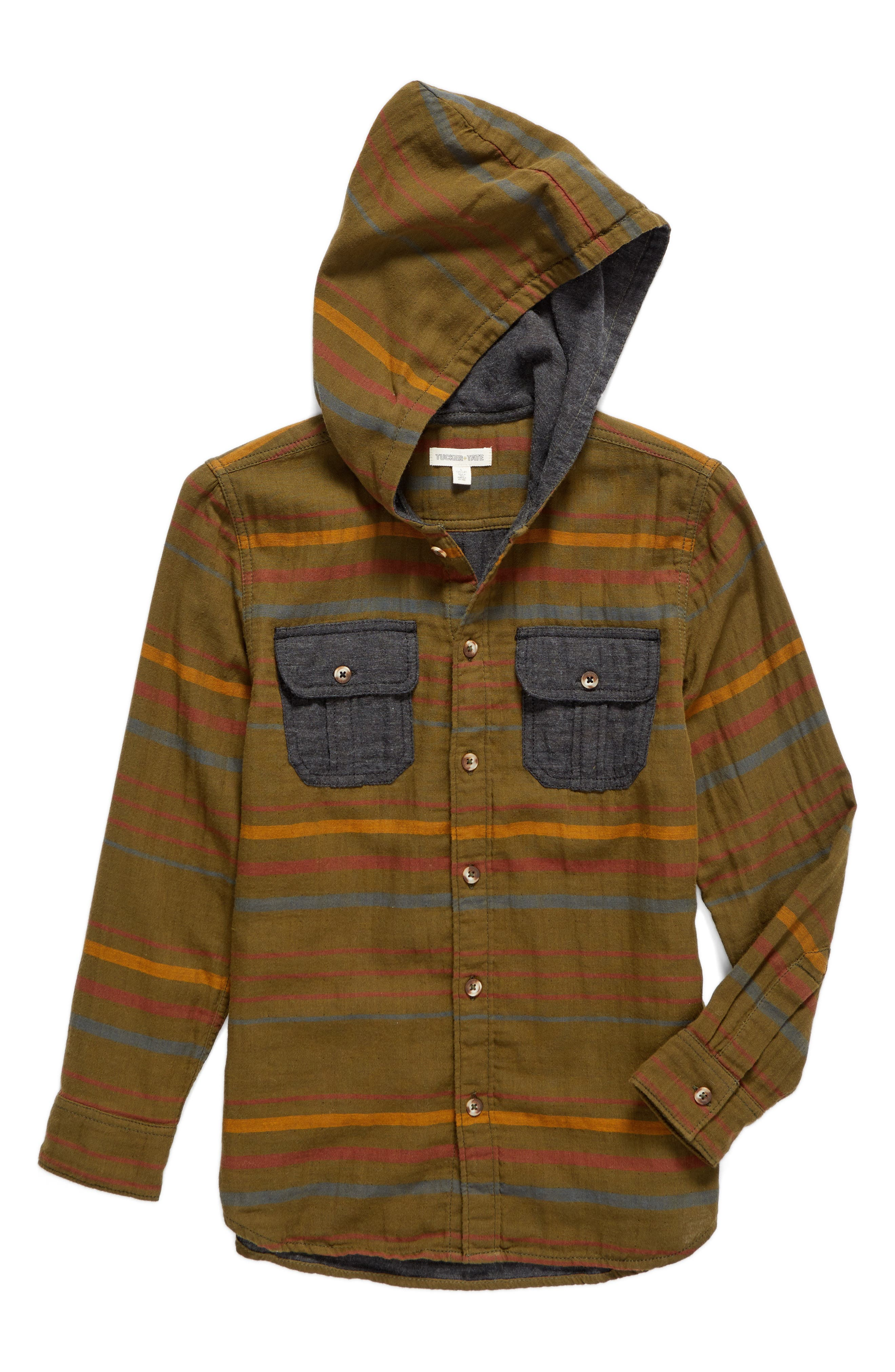 Tucker + Tate Hooded Woven Shirt (Big Boys)