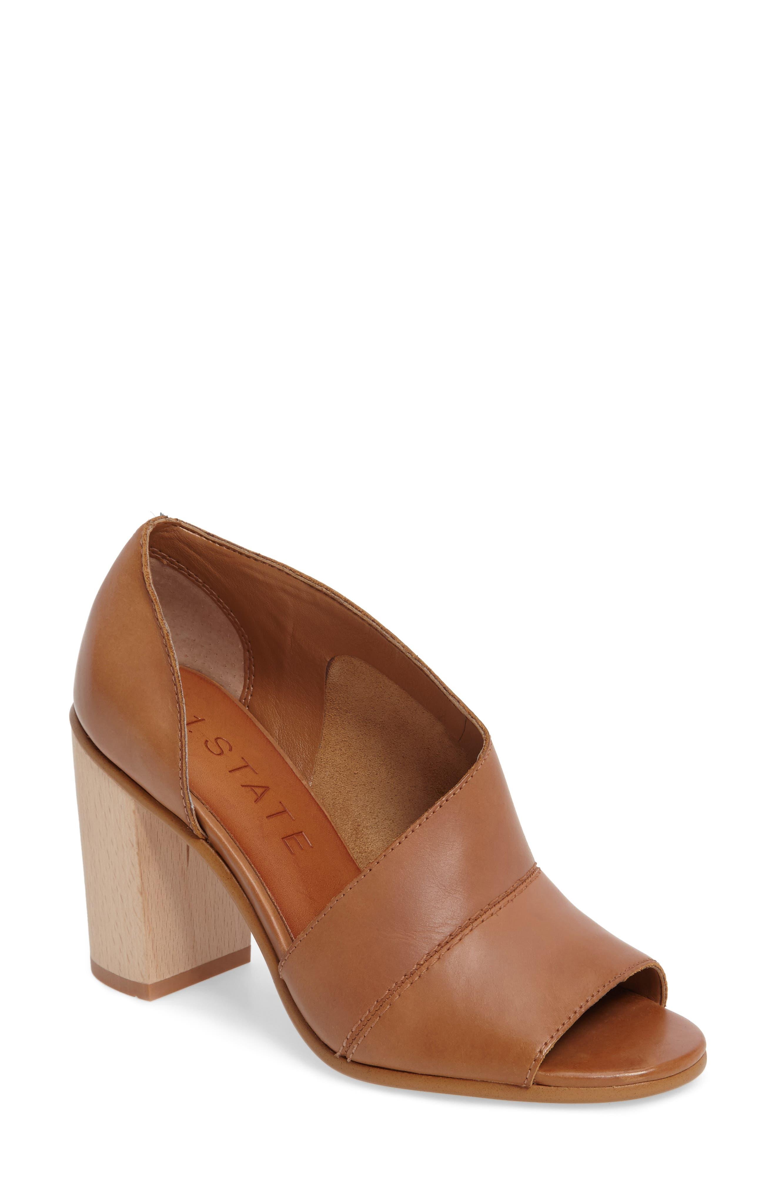 Amble Asymmetrical Sandal,                         Main,                         color, Tan Leather