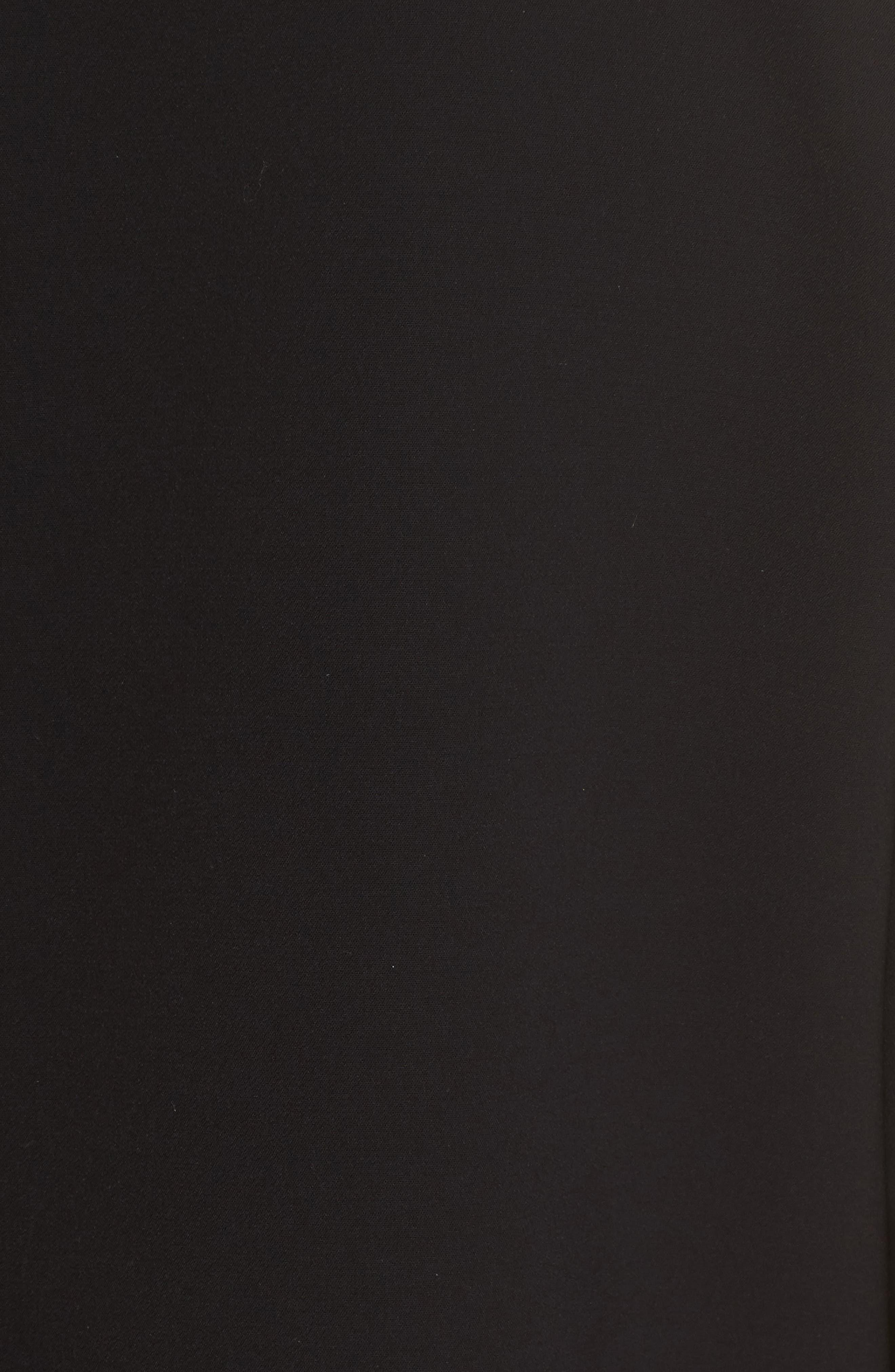 Deandra Tie Sleeve Shift Dress,                             Alternate thumbnail 3, color,                             Black