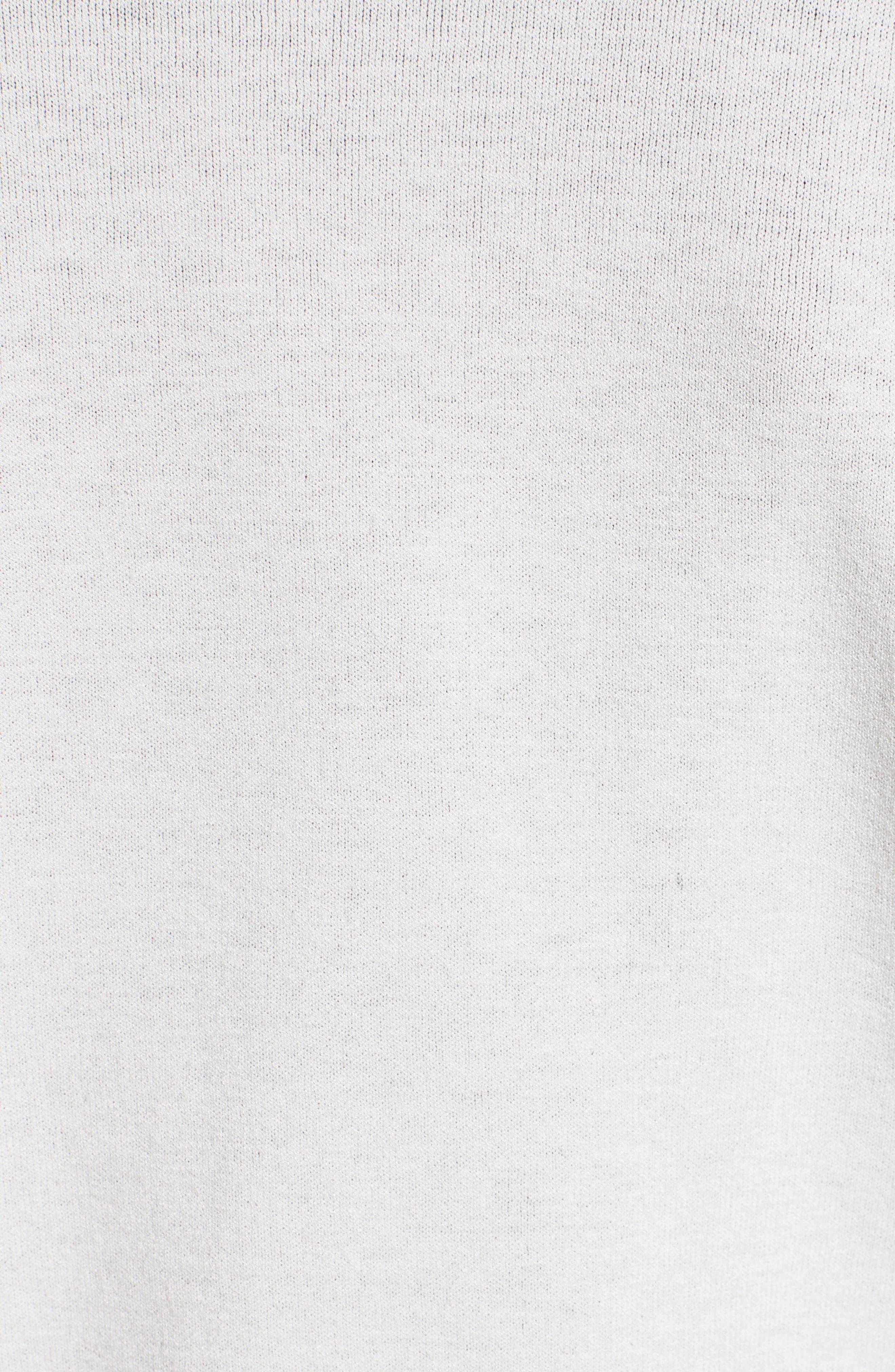 Matte Crepe Reversible Knit Bomber Jacket,                             Alternate thumbnail 4, color,                             Cloud / Black