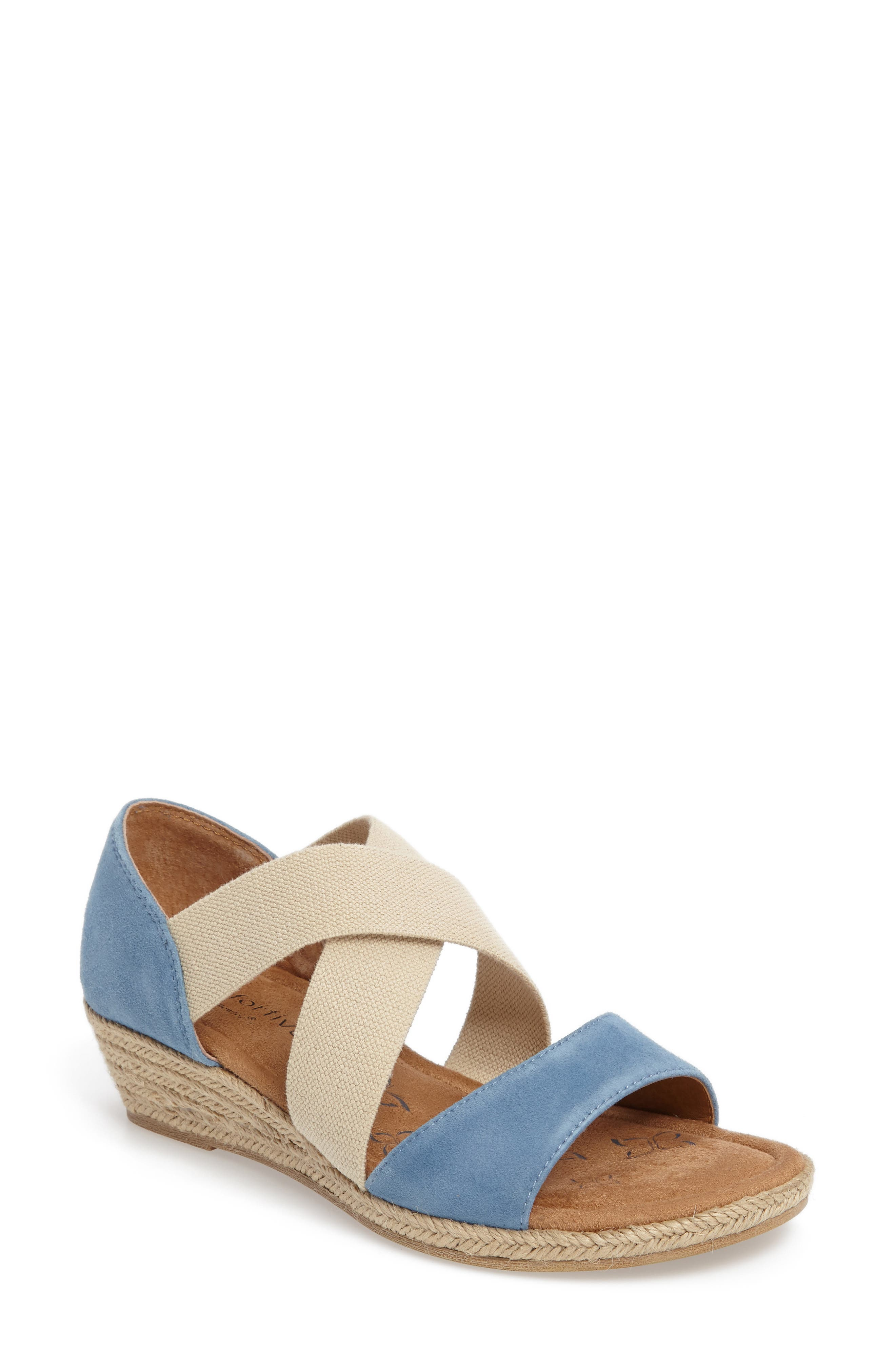 Brye Espadrille Sandal,                             Main thumbnail 1, color,                             Pale Blue Suede